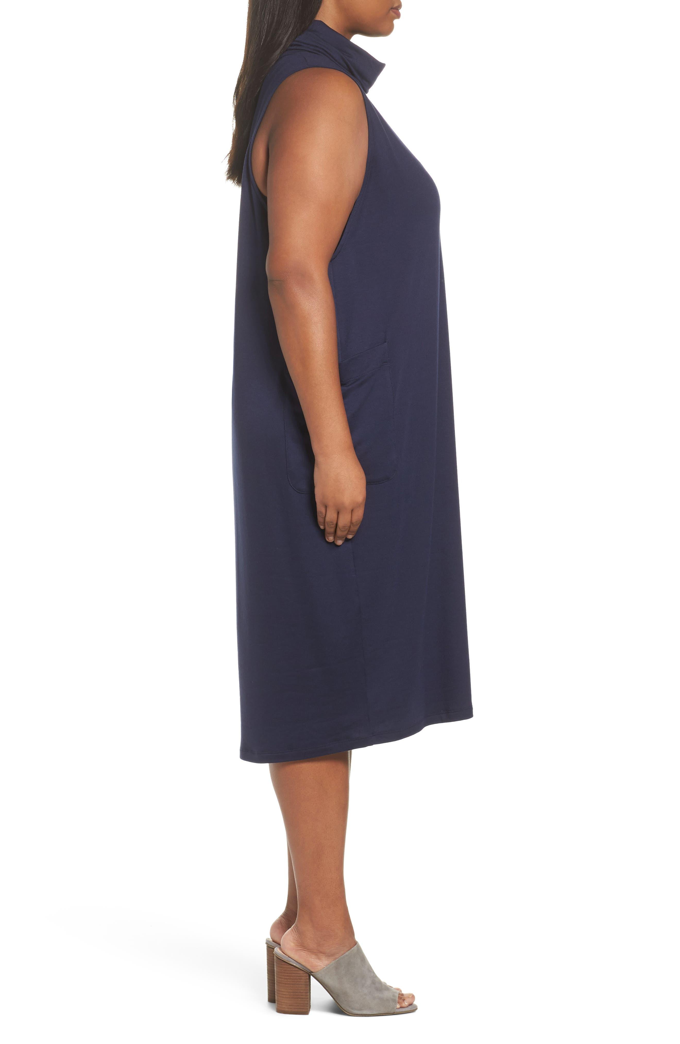 Stretch Tencel<sup>®</sup> Knit Jumper Dress,                             Alternate thumbnail 9, color,