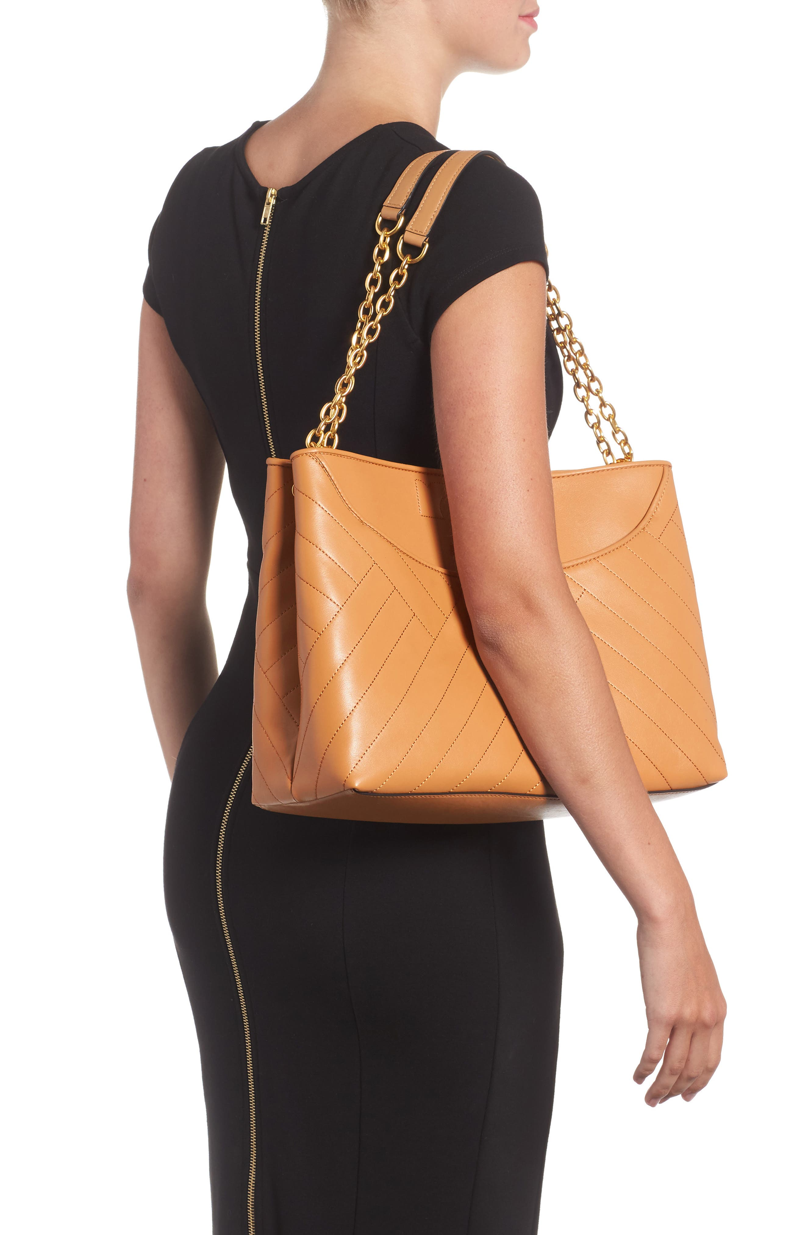 TORY BURCH,                             Alexa Leather Tote,                             Alternate thumbnail 2, color,                             200