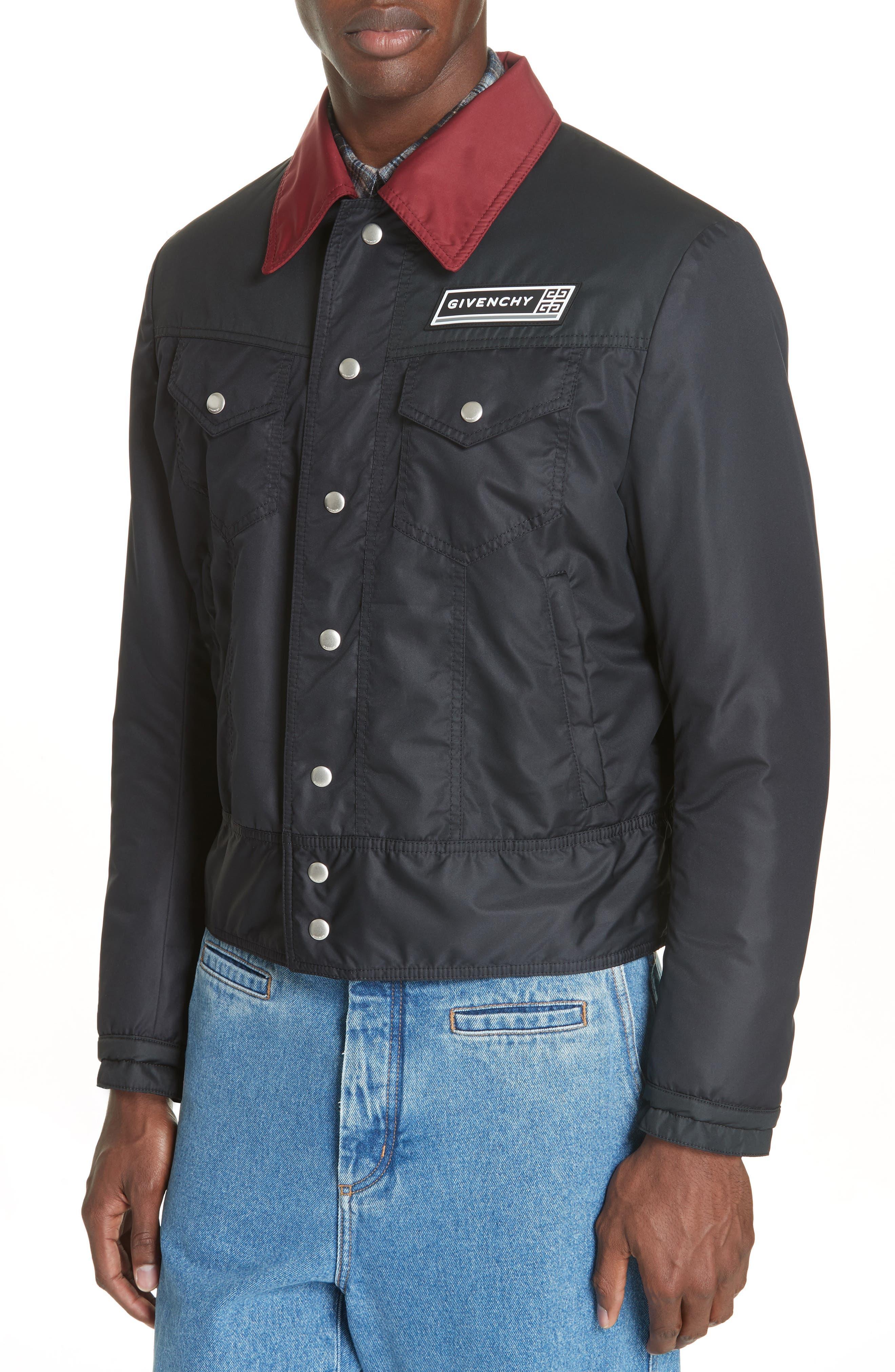 Trucker Jacket,                             Alternate thumbnail 4, color,                             DARK BLUE