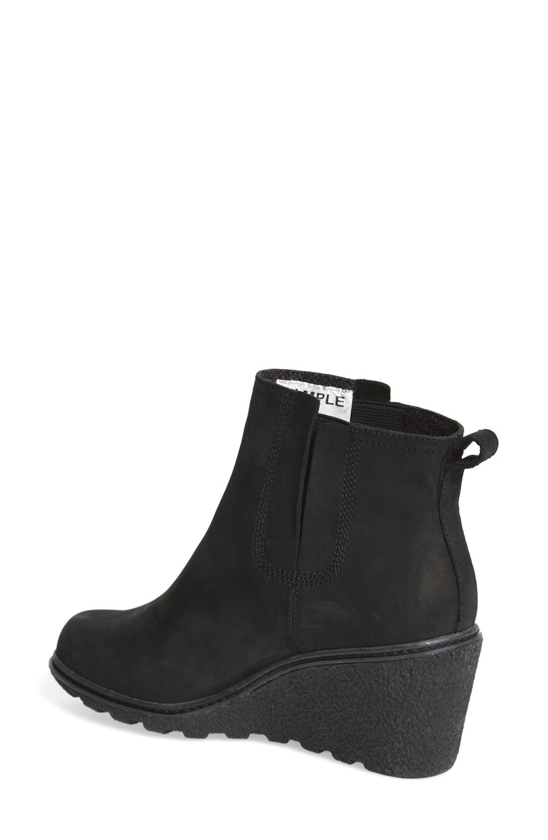 'Amston' Chelsea Wedge Boot,                             Alternate thumbnail 2, color,                             001
