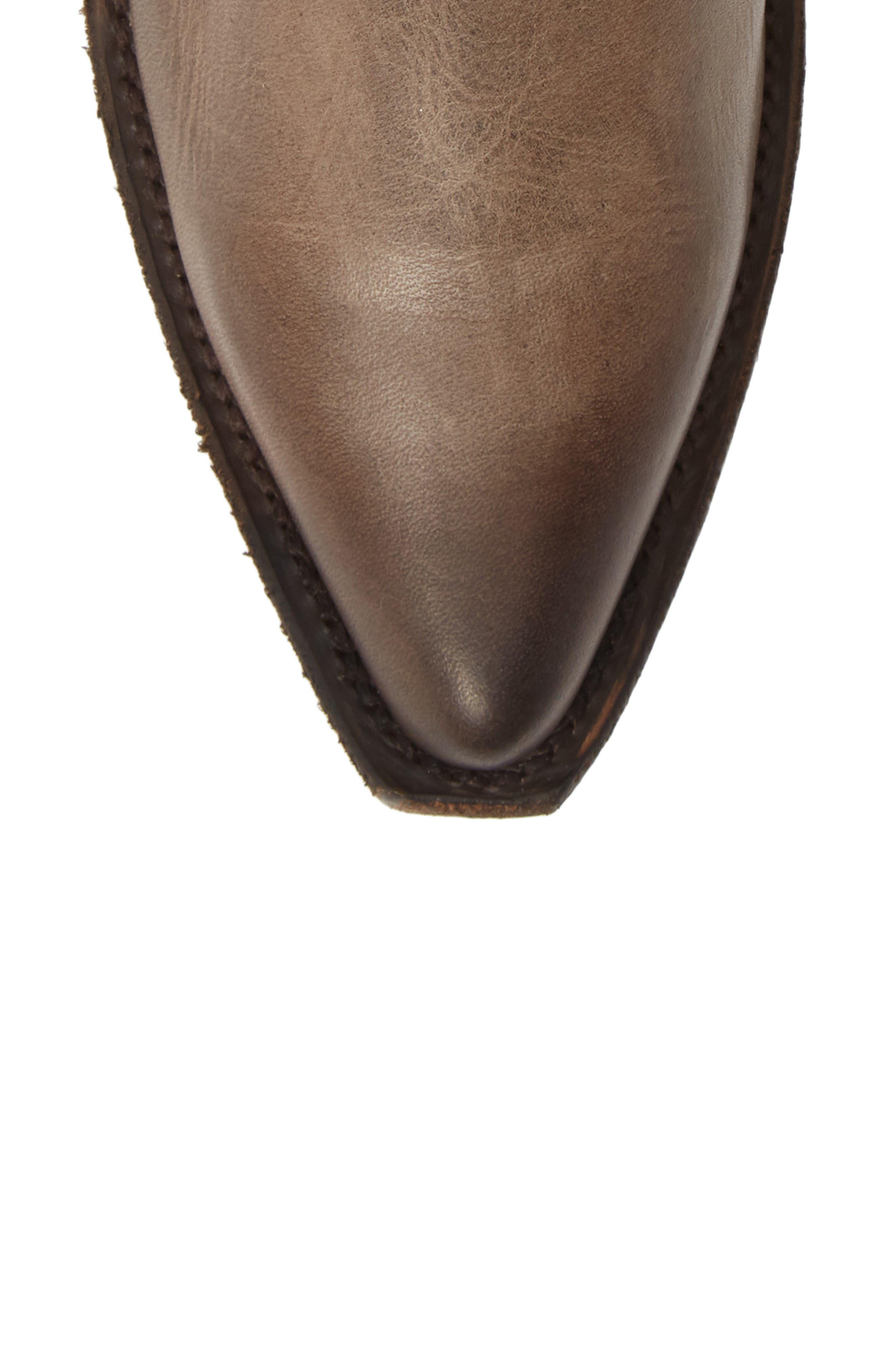 Sacha Western Bootie,                             Alternate thumbnail 5, color,                             STONE LEATHER