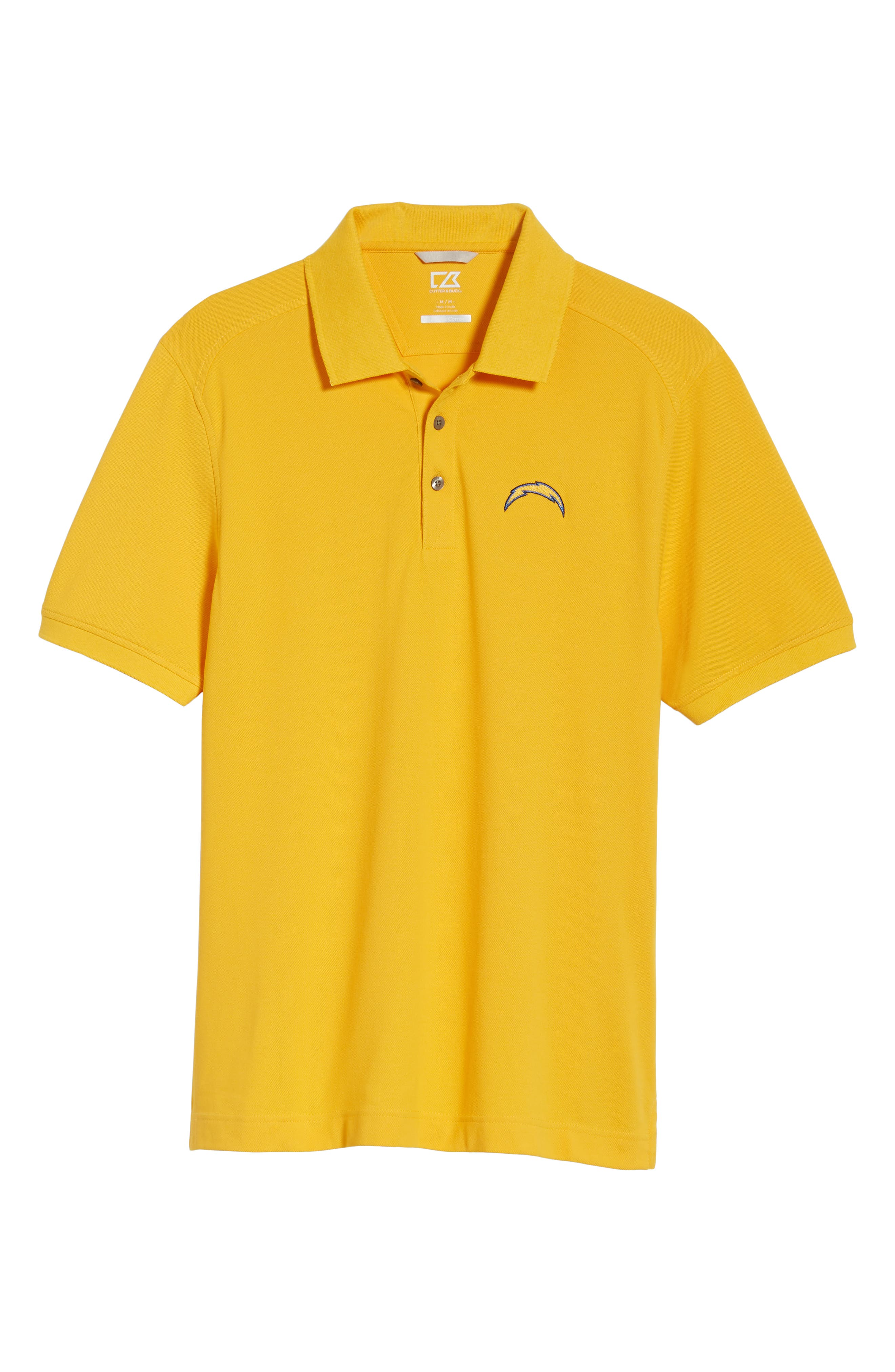 Los Angeles Chargers - Advantage Regular Fit DryTec Polo,                             Alternate thumbnail 6, color,                             COLLEGE GOLD