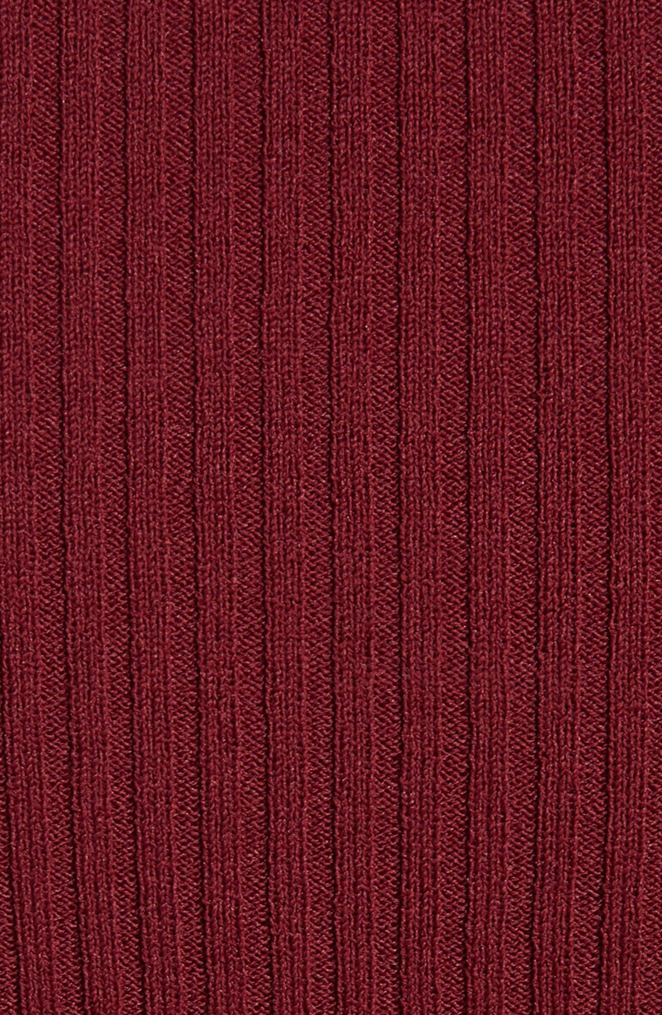 Ribbed Crewneck Top,                             Alternate thumbnail 5, color,                             647