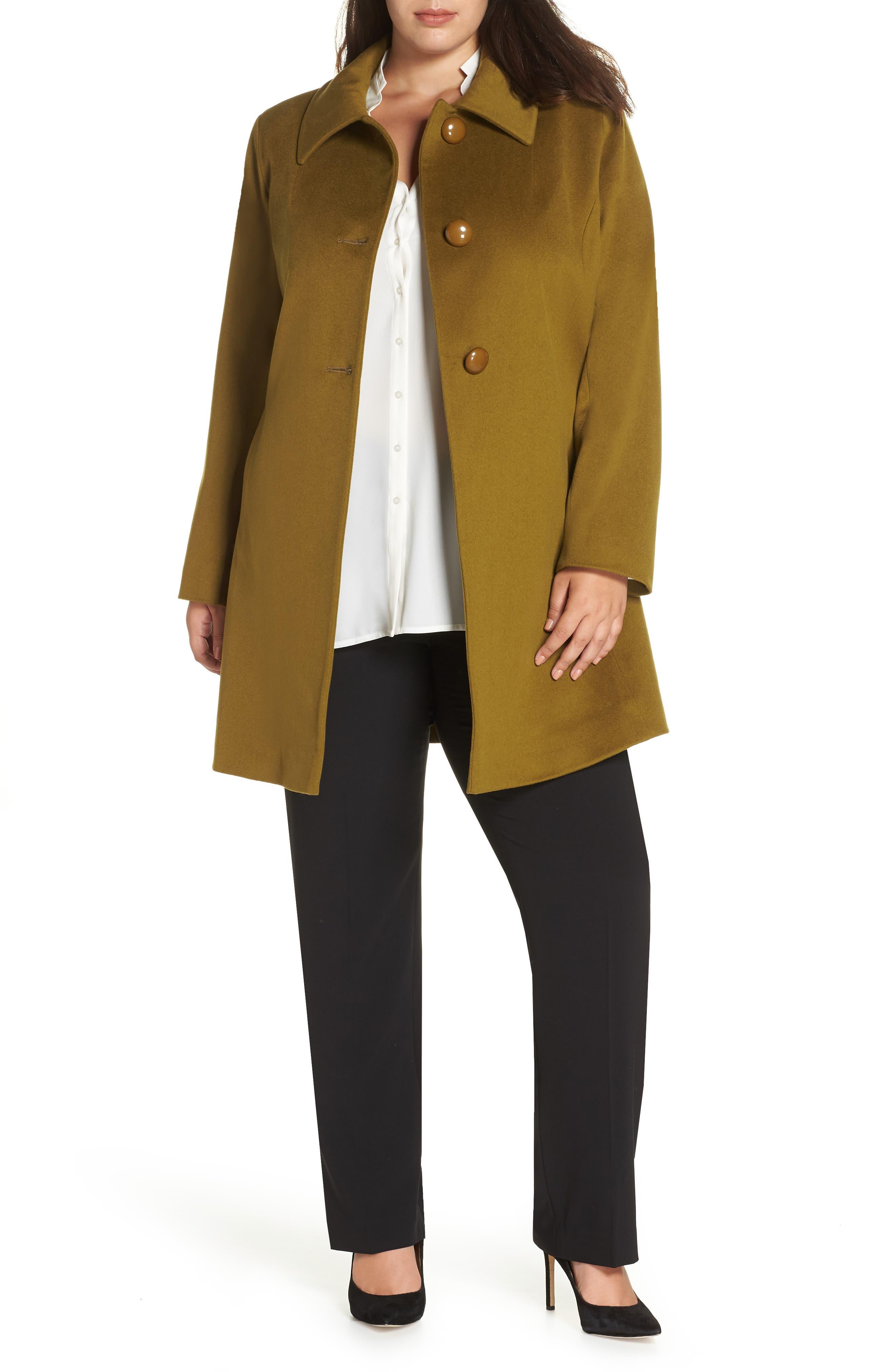FLEURETTE,                             Loro Piana Wool Car Coat,                             Main thumbnail 1, color,                             305