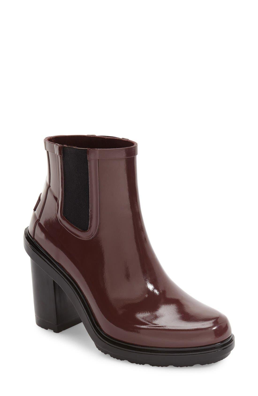 'Original Refined' Chelsea Rain Boot,                             Main thumbnail 4, color,