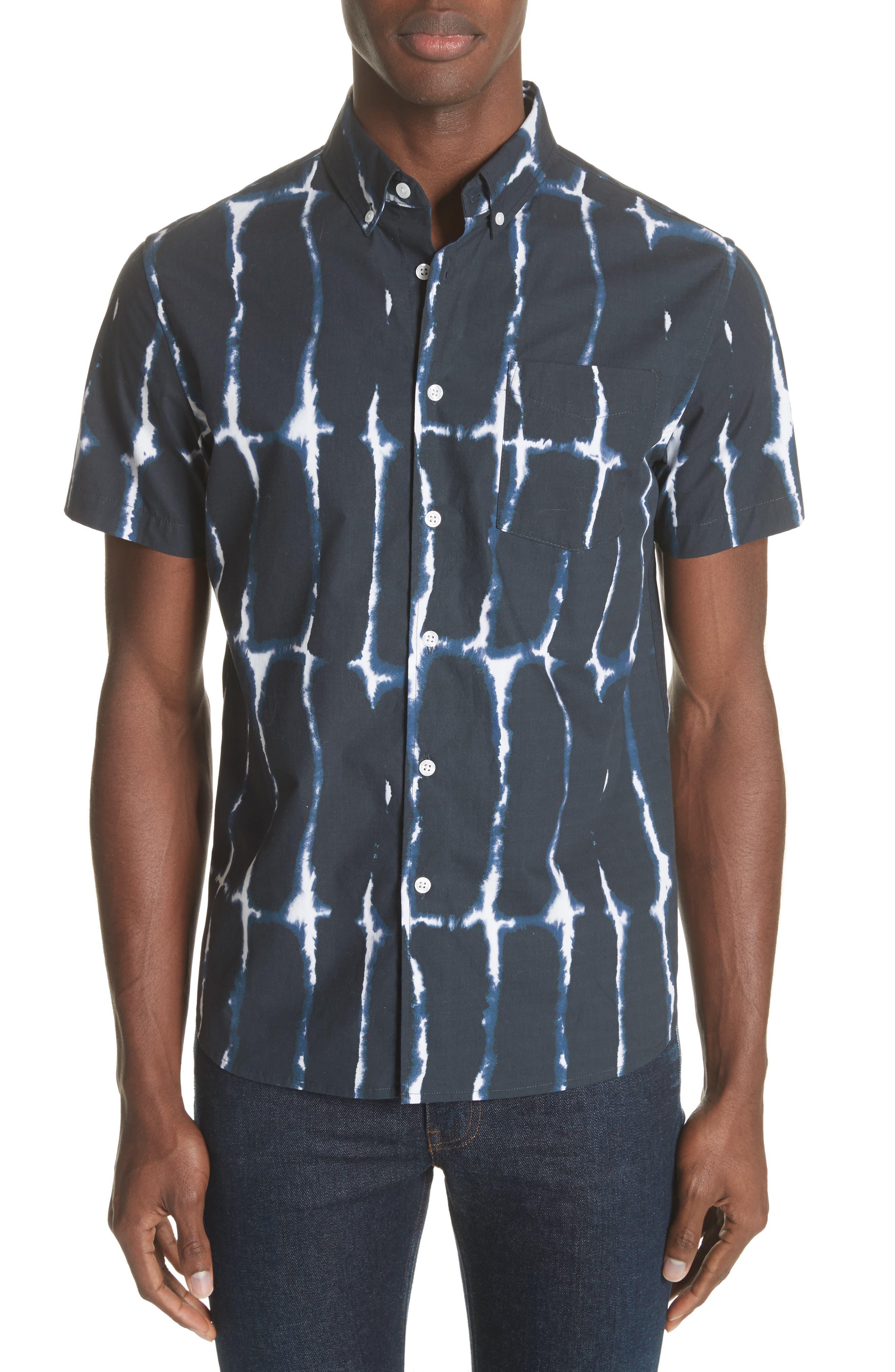 Esquina Print Woven Shirt,                         Main,                         color, 401