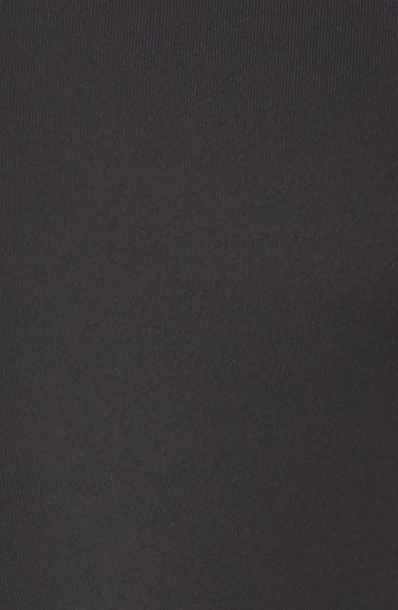 Intrigue High Waist Crop Leggings,                             Alternate thumbnail 6, color,                             BLACK