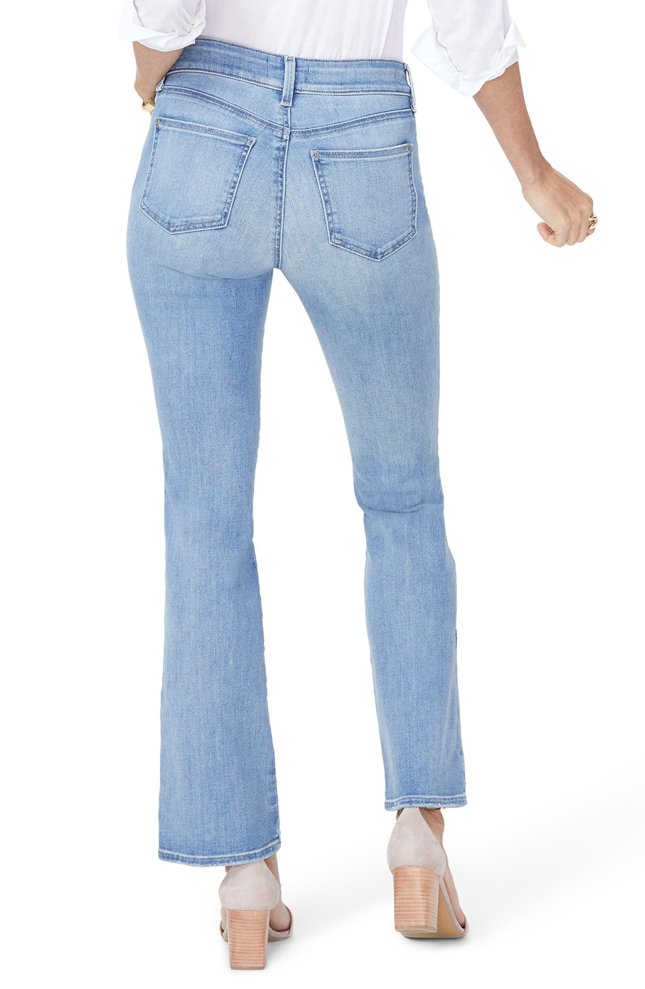 Barbara Butterfly Bootcut Jeans,                             Alternate thumbnail 2, color,                             418