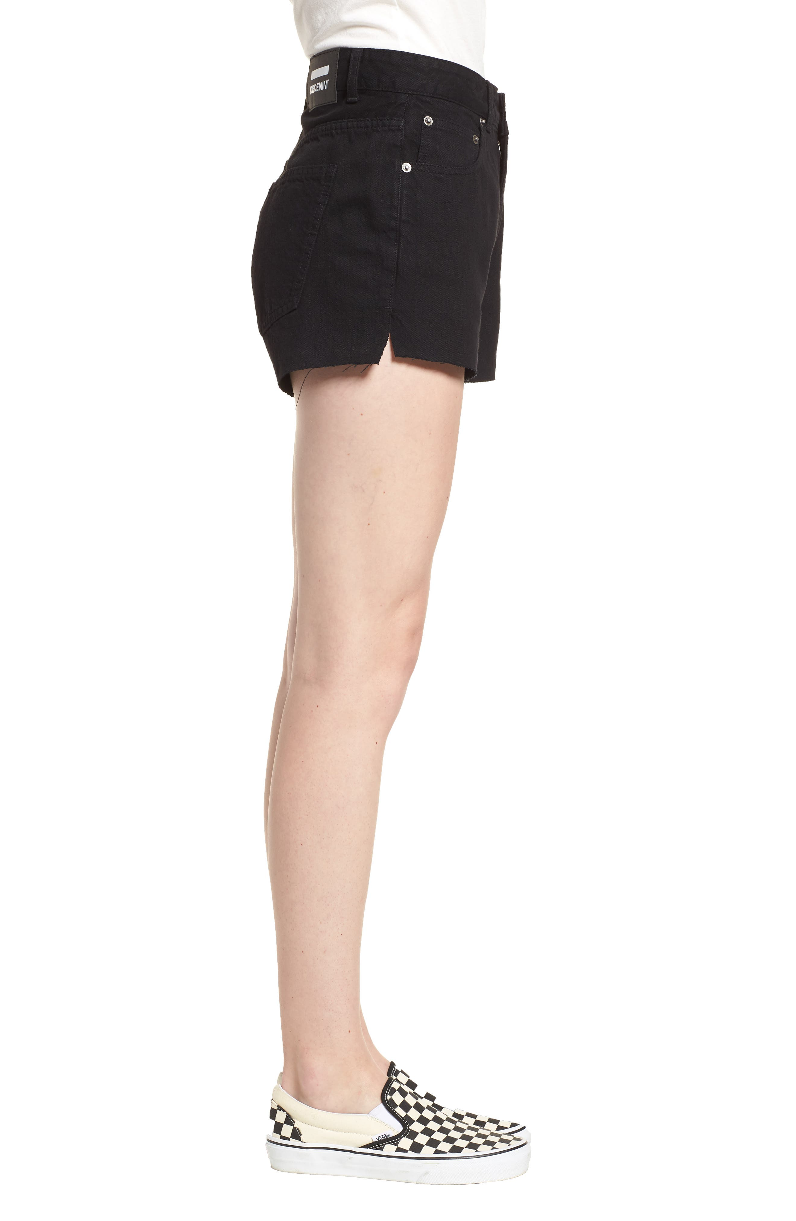 Vega Denim Shorts,                             Alternate thumbnail 3, color,                             001