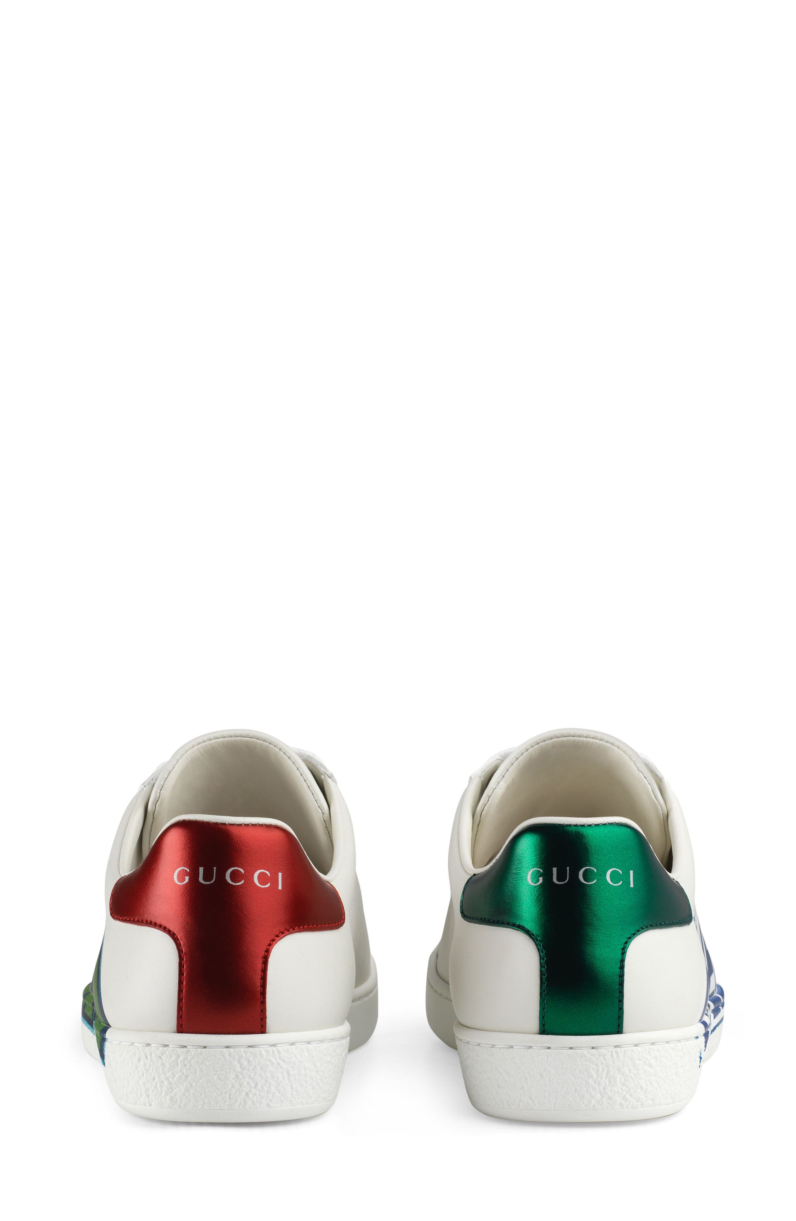 GUCCI,                             New Ace Loved Sneaker,                             Alternate thumbnail 5, color,                             WHITE