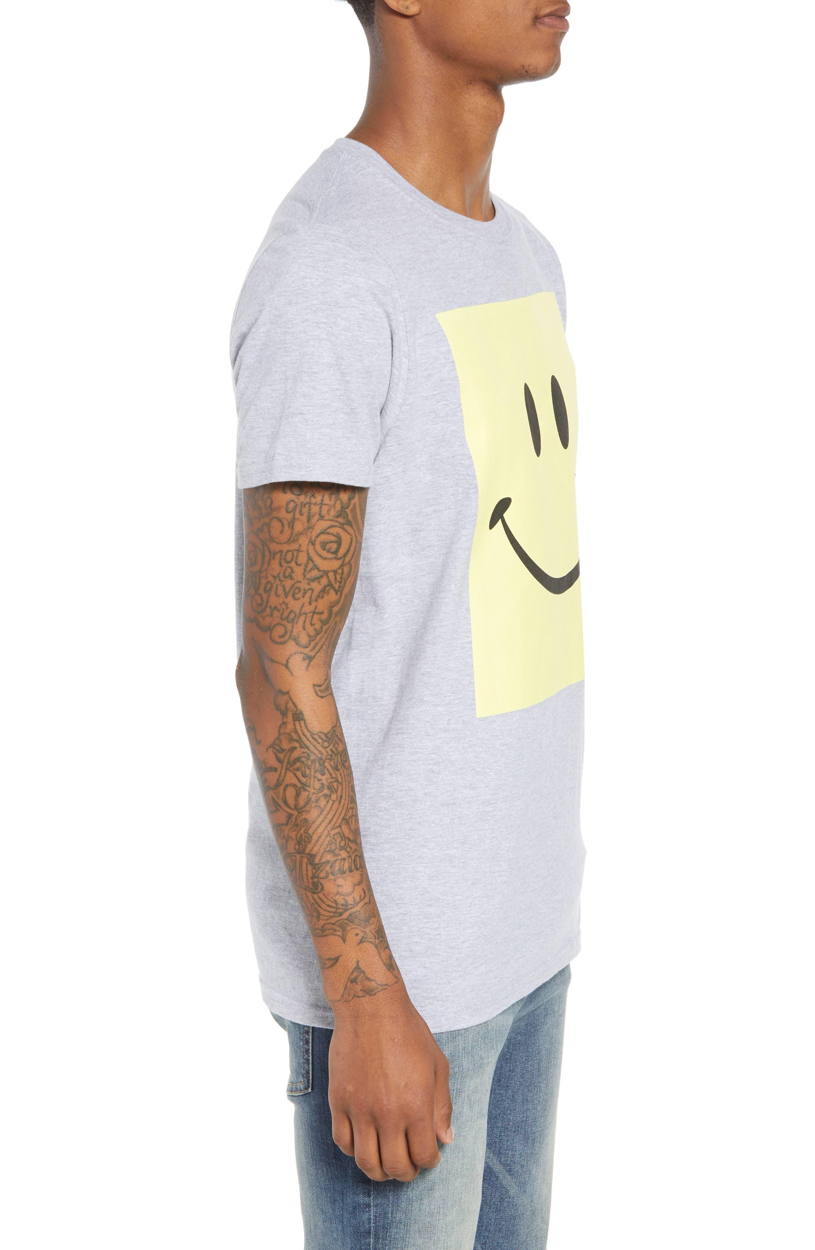 Box Smiley Graphic T-Shirt,                             Alternate thumbnail 3, color,                             030