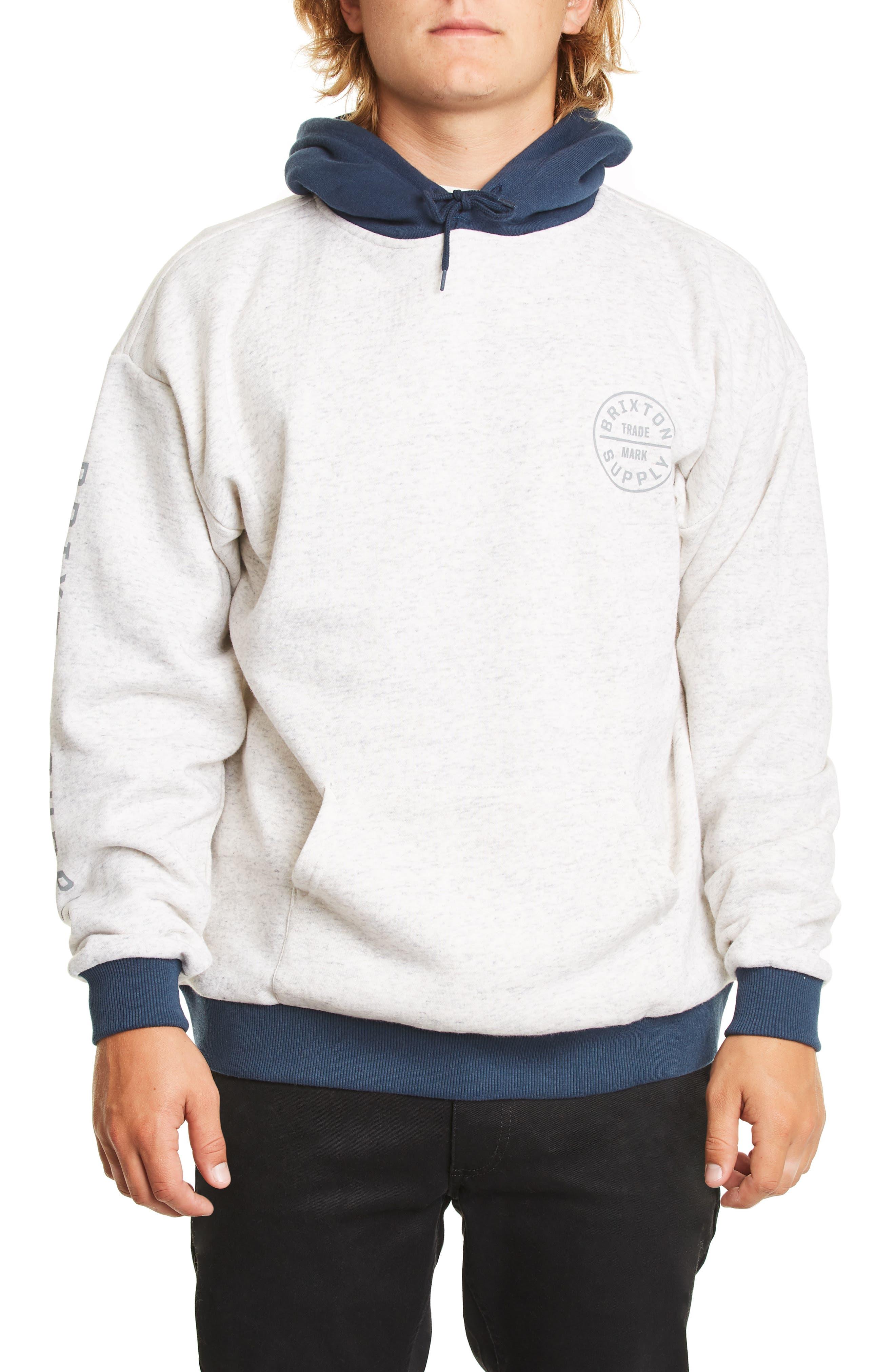 Brixton Oath Ii Hooded Sweatshirt, Ivory