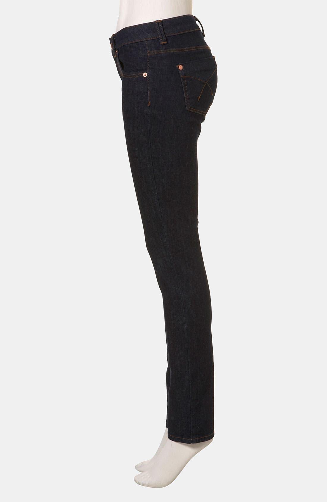 Moto 'Baxter' Skinny Jeans,                             Alternate thumbnail 4, color,                             401