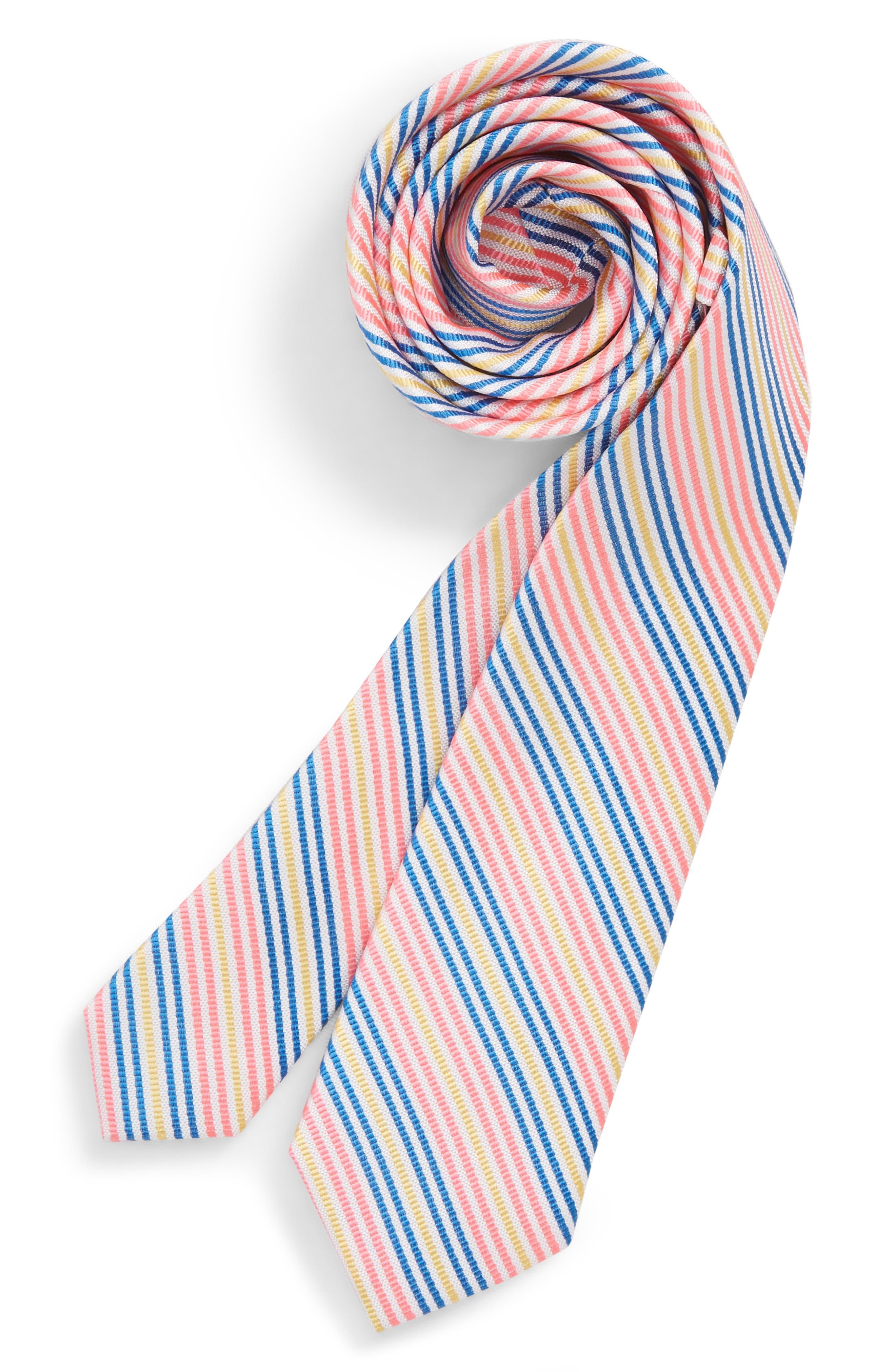 Bengal Stripe Silk Zip Tie,                             Main thumbnail 1, color,
