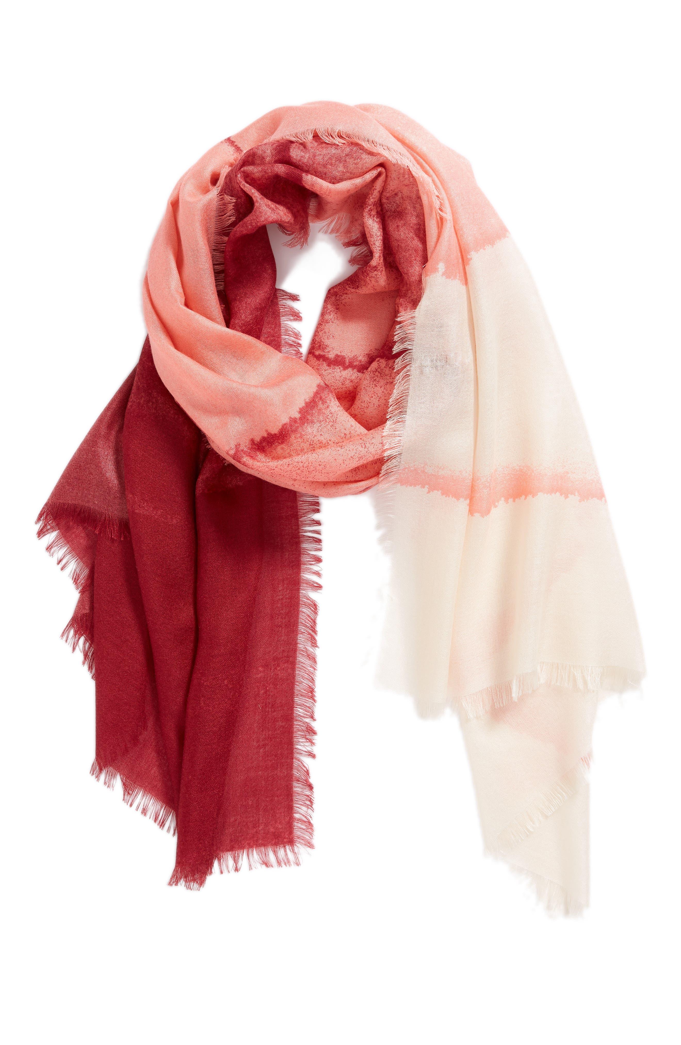 Eyelash Trim Print Cashmere & Silk Wrap,                             Alternate thumbnail 61, color,
