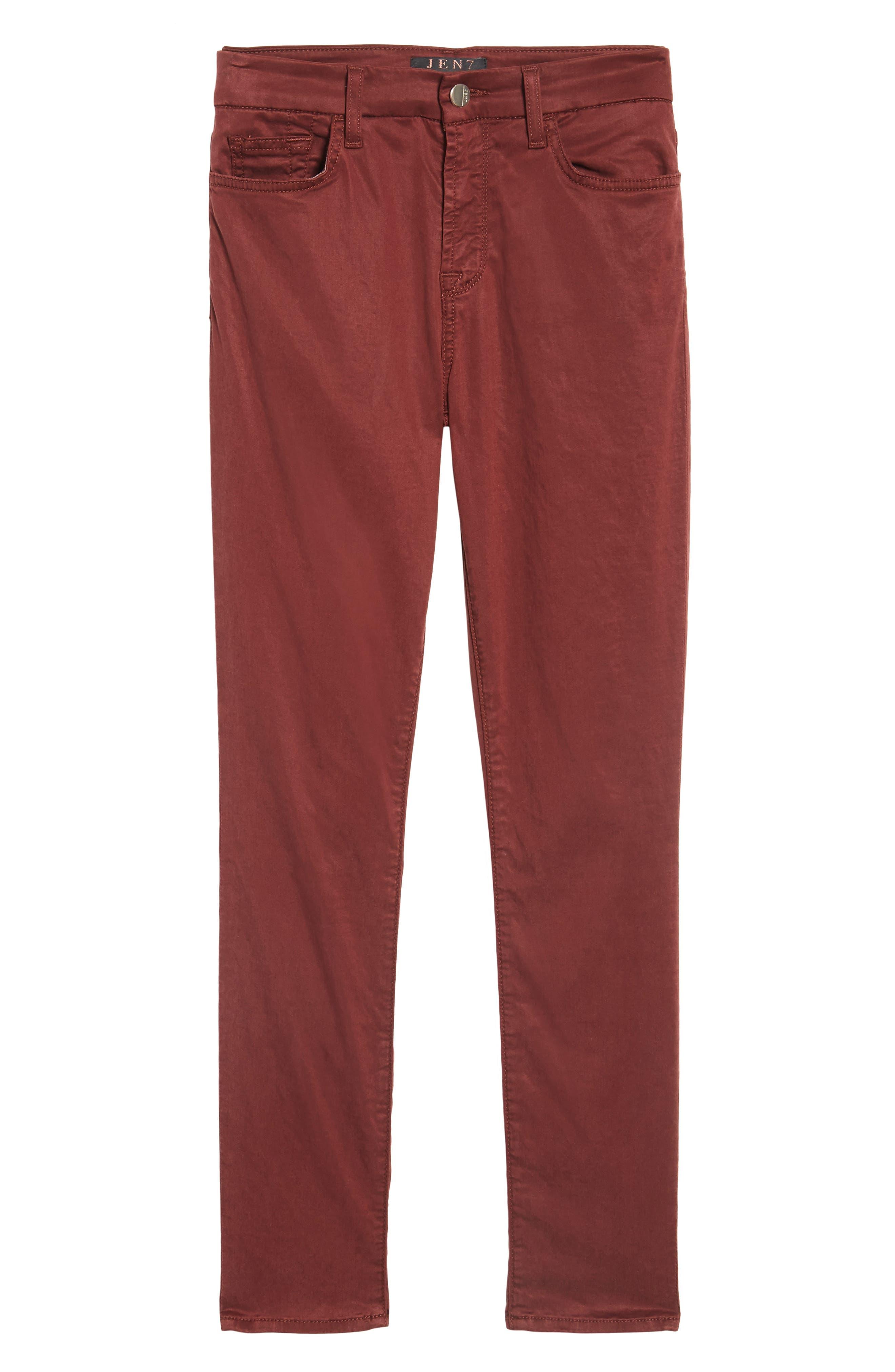 Sateen Skinny Ankle Jeans,                             Alternate thumbnail 6, color,                             201