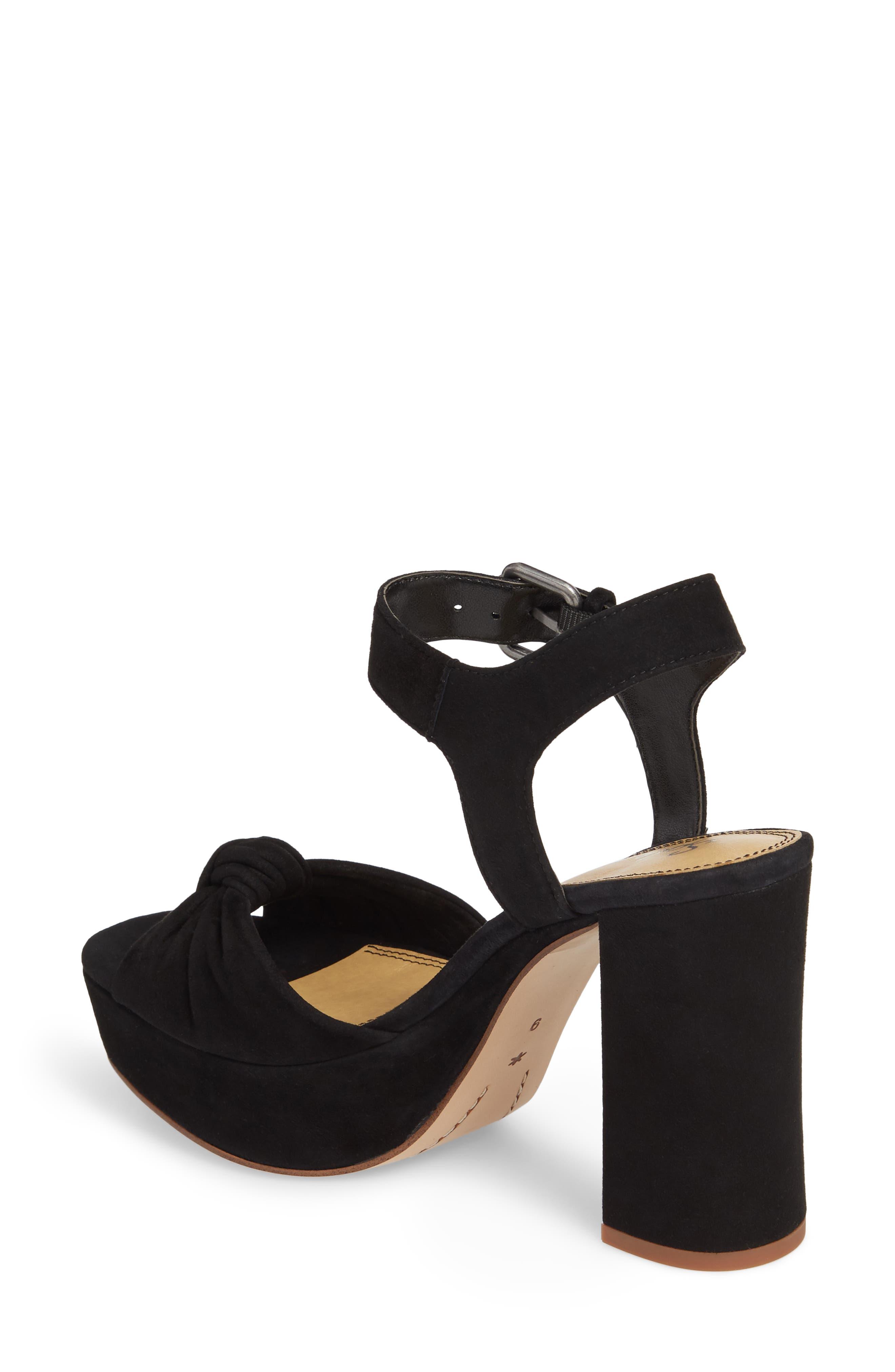 Bates Platform Sandal,                             Alternate thumbnail 2, color,                             BLACK SUEDE