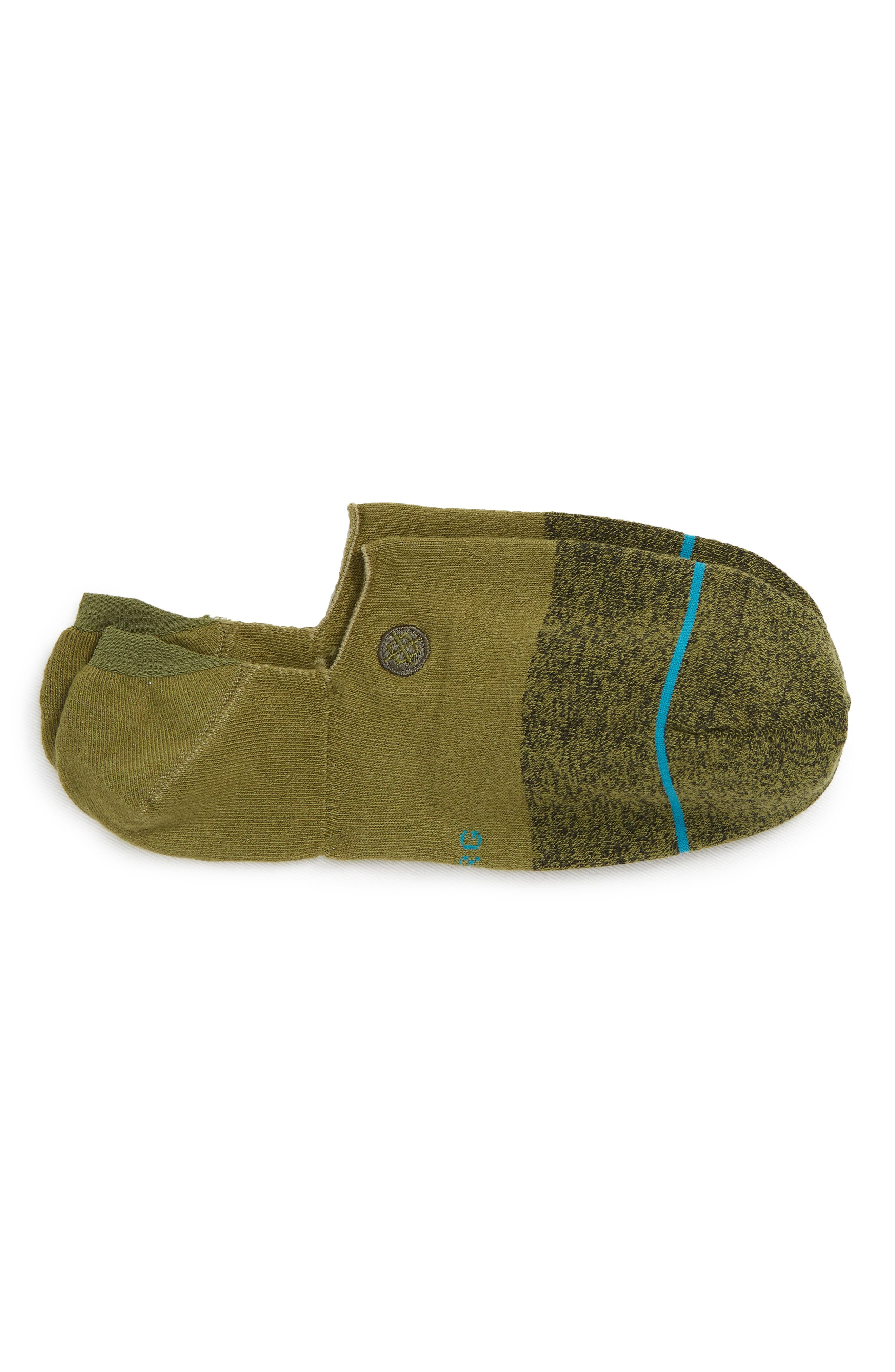 Gamut Liner Socks,                             Main thumbnail 1, color,                             OLIVE