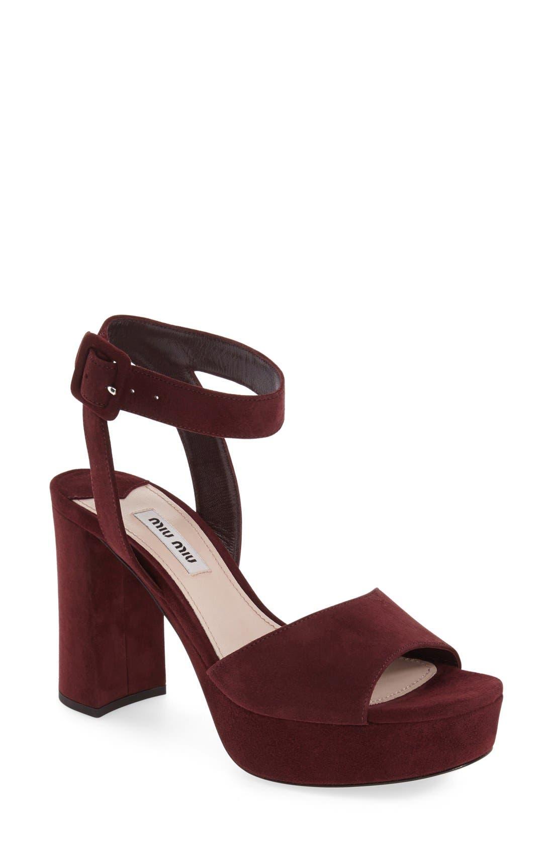 'Sandali' Ankle Strap Sandal,                             Main thumbnail 4, color,