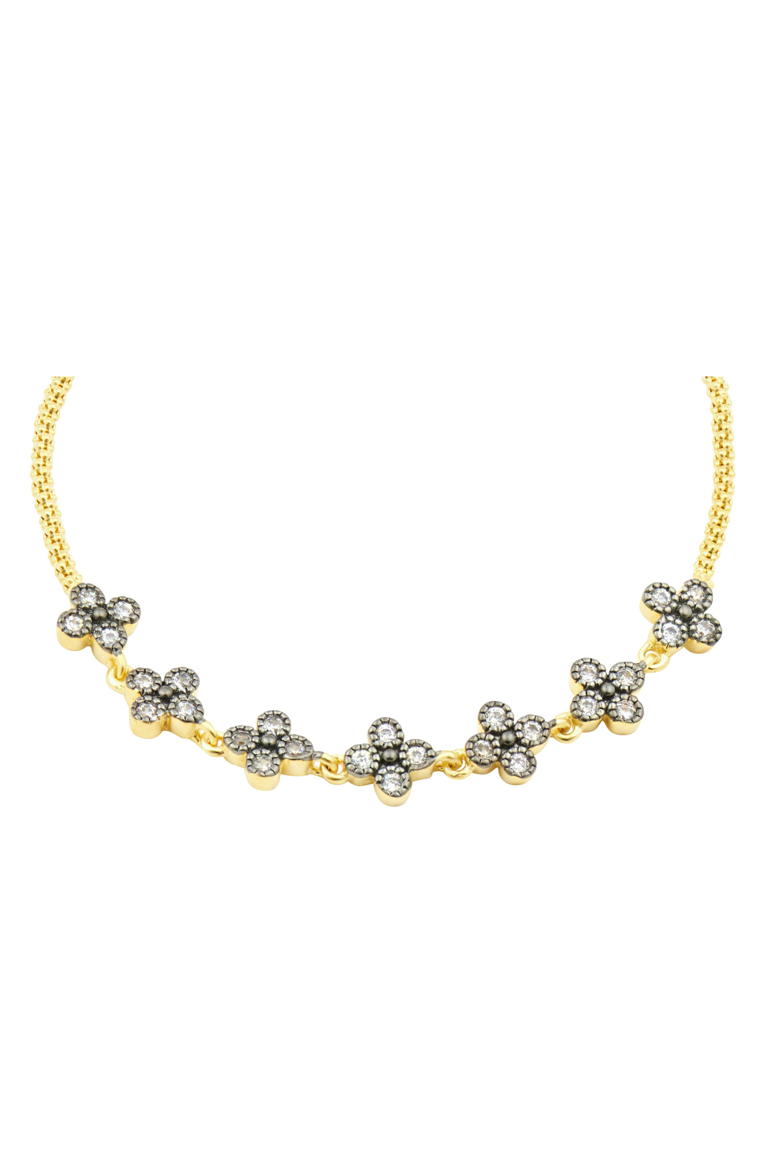 Adjustable Clover Bracelet,                             Alternate thumbnail 2, color,                             GOLD/ SILVER