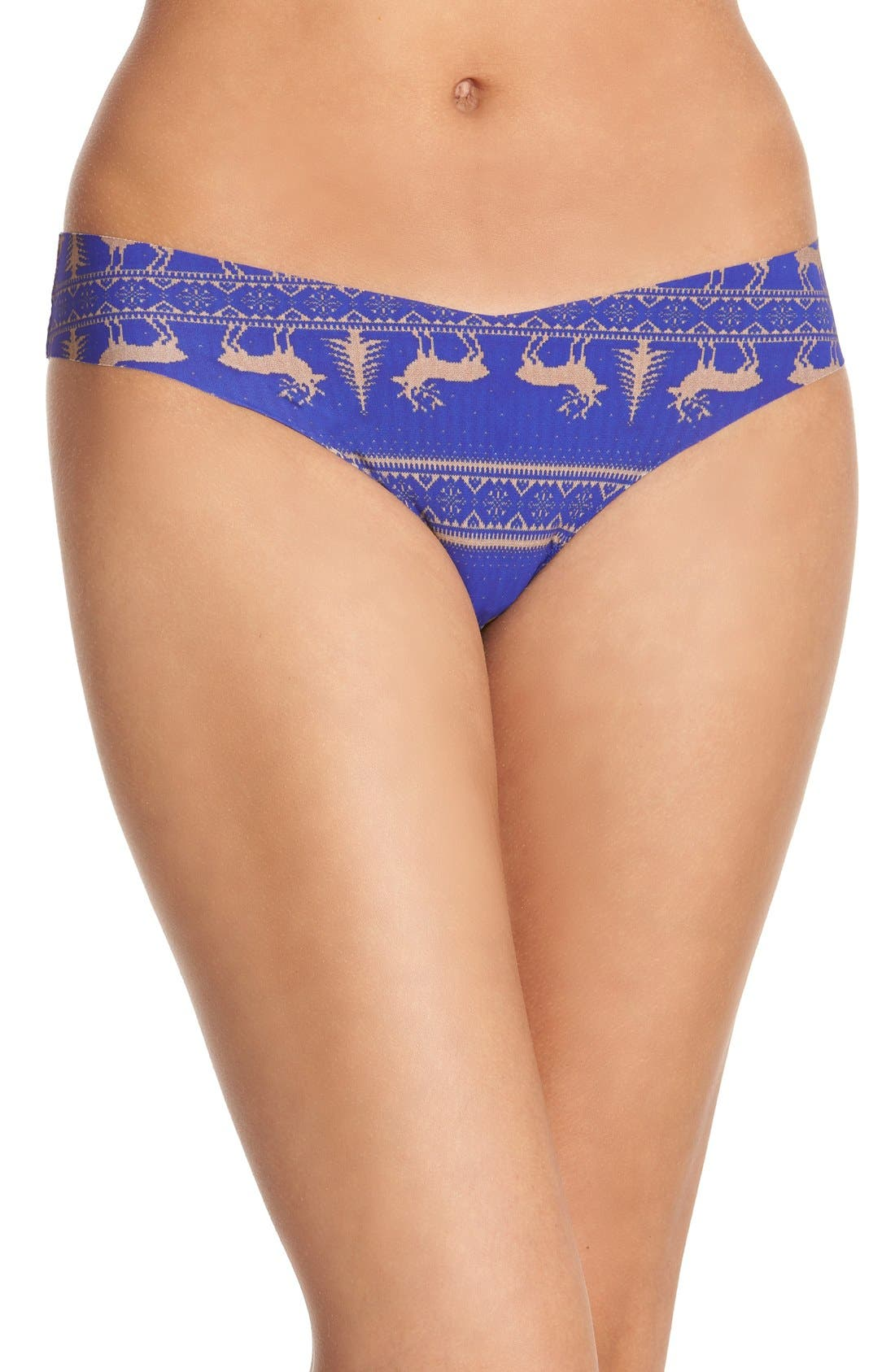 Print Microfiber Thong,                             Main thumbnail 69, color,