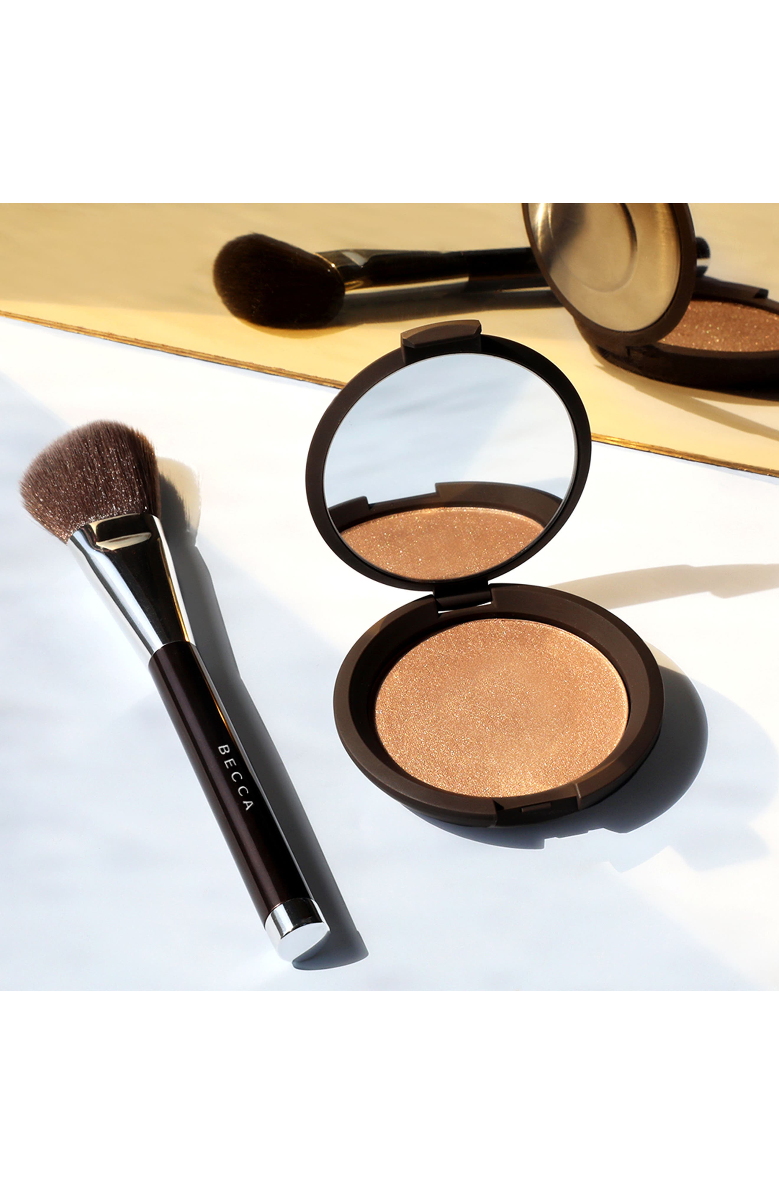 BECCA COSMETICS,                             BECCA Angled Highlighter Brush,                             Alternate thumbnail 2, color,                             NO COLOR