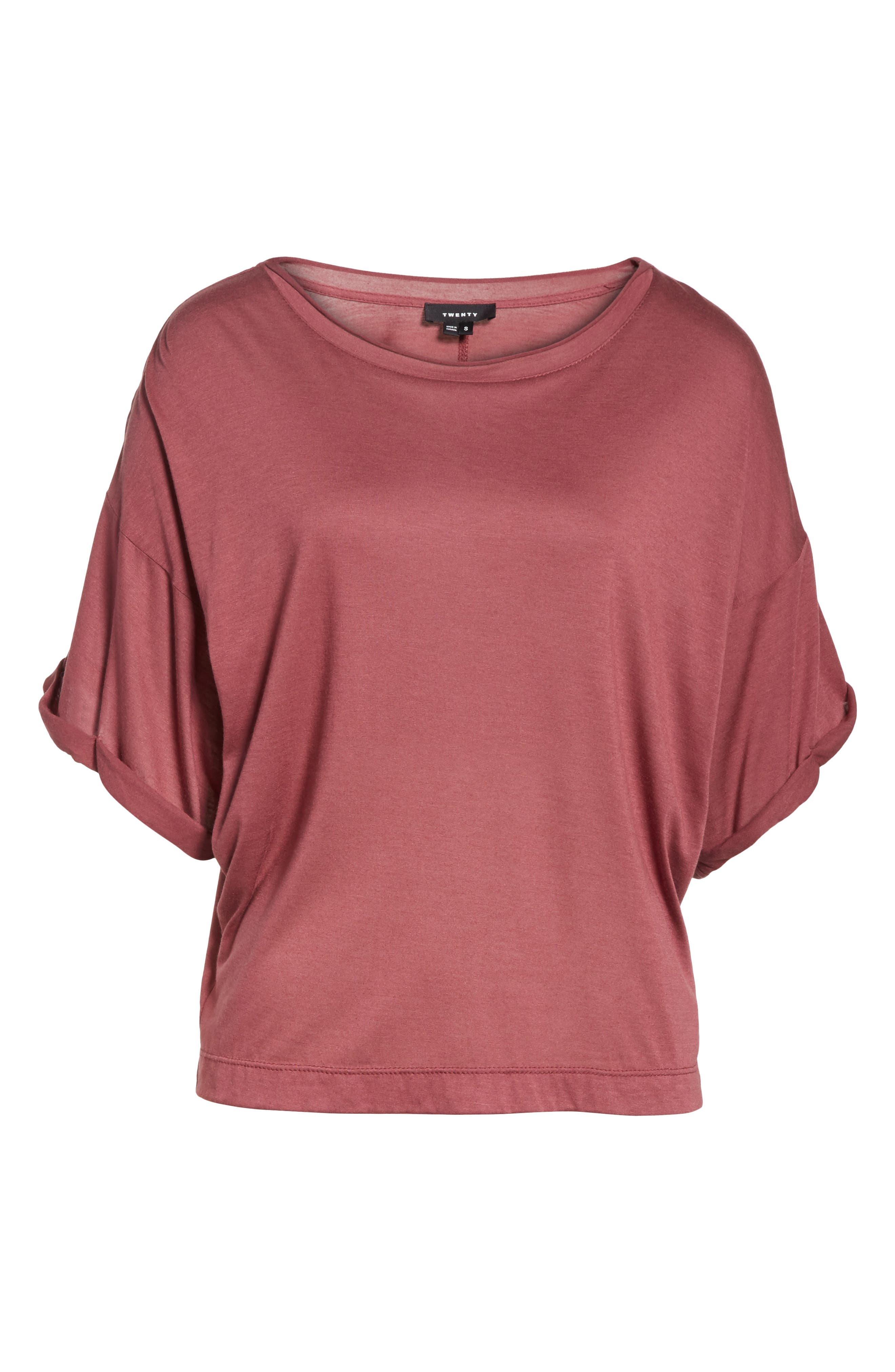 Perfect Boatneck Tee,                             Alternate thumbnail 6, color,