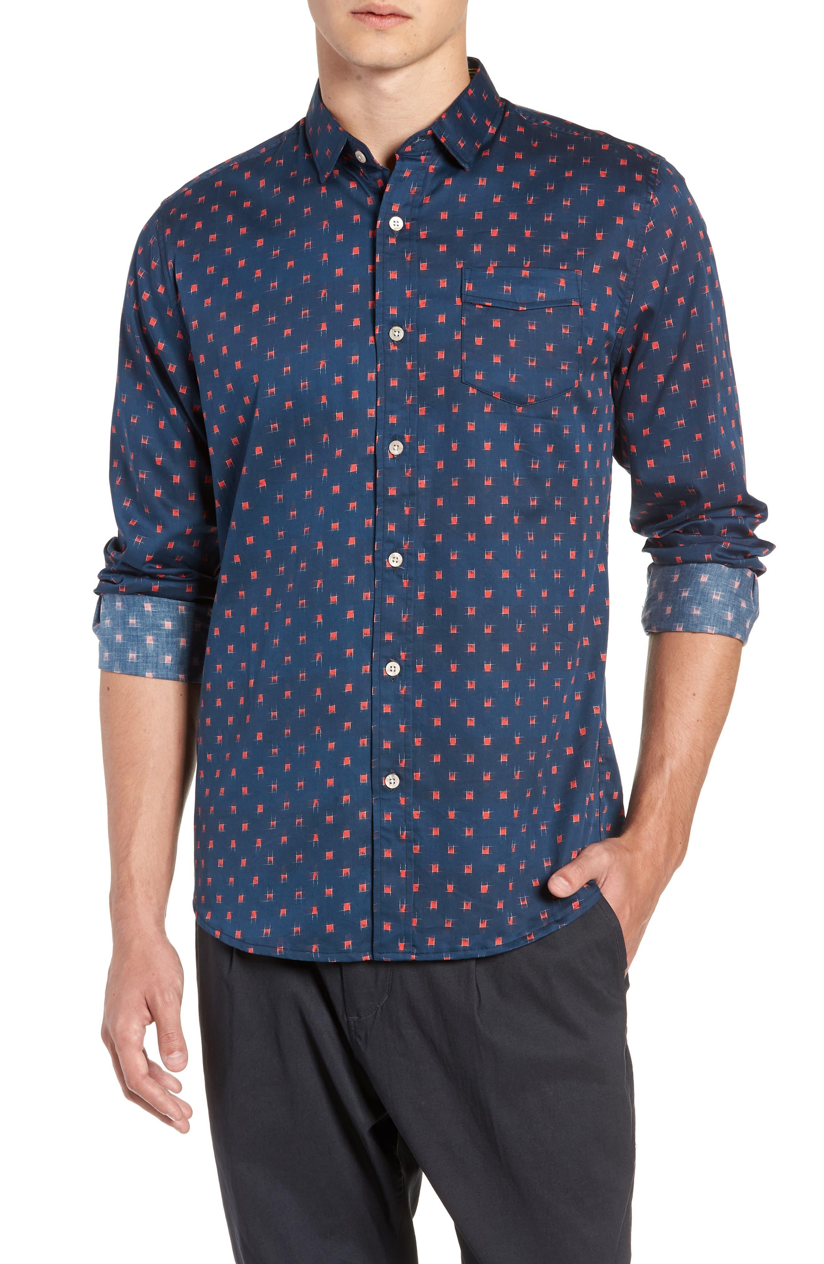 Car Wars Print Shirt,                         Main,                         color, NAVY