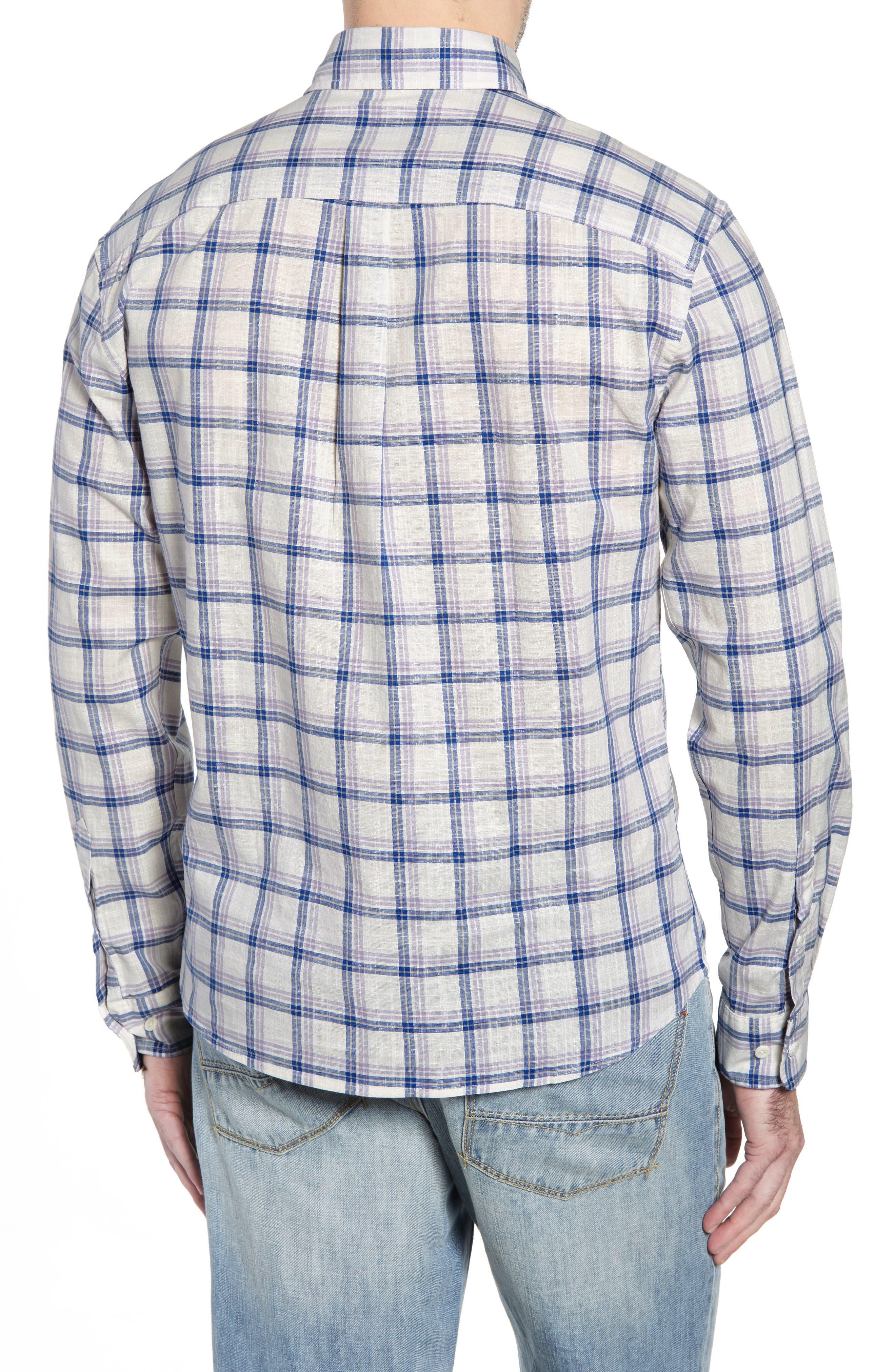 Davis Regular Fit Sport Shirt,                             Alternate thumbnail 3, color,                             LILAC