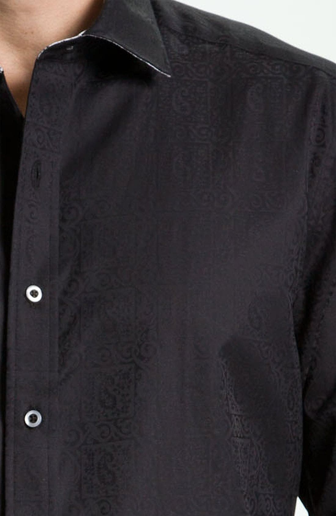 LONG SLEEVE WOVEN WINDSOR SPORTSHIRT,                             Alternate thumbnail 2, color,                             001
