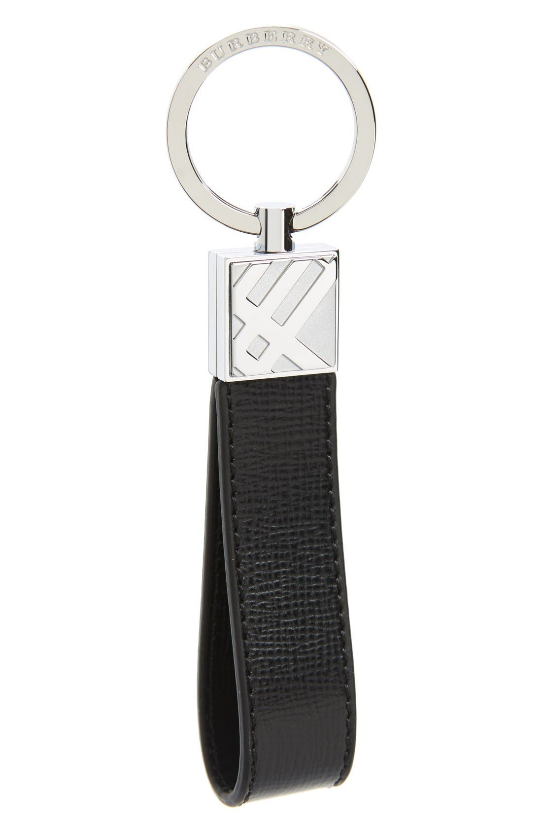 Leather Key Chain,                             Main thumbnail 1, color,                             001
