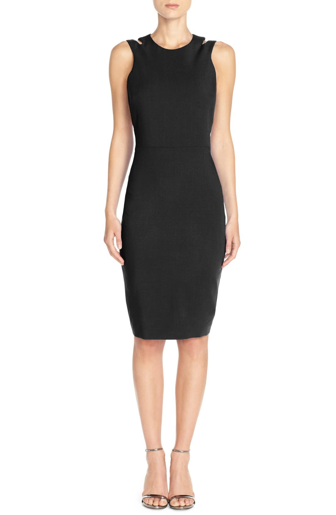 Whisper Light Cutout Dress,                             Main thumbnail 1, color,                             001