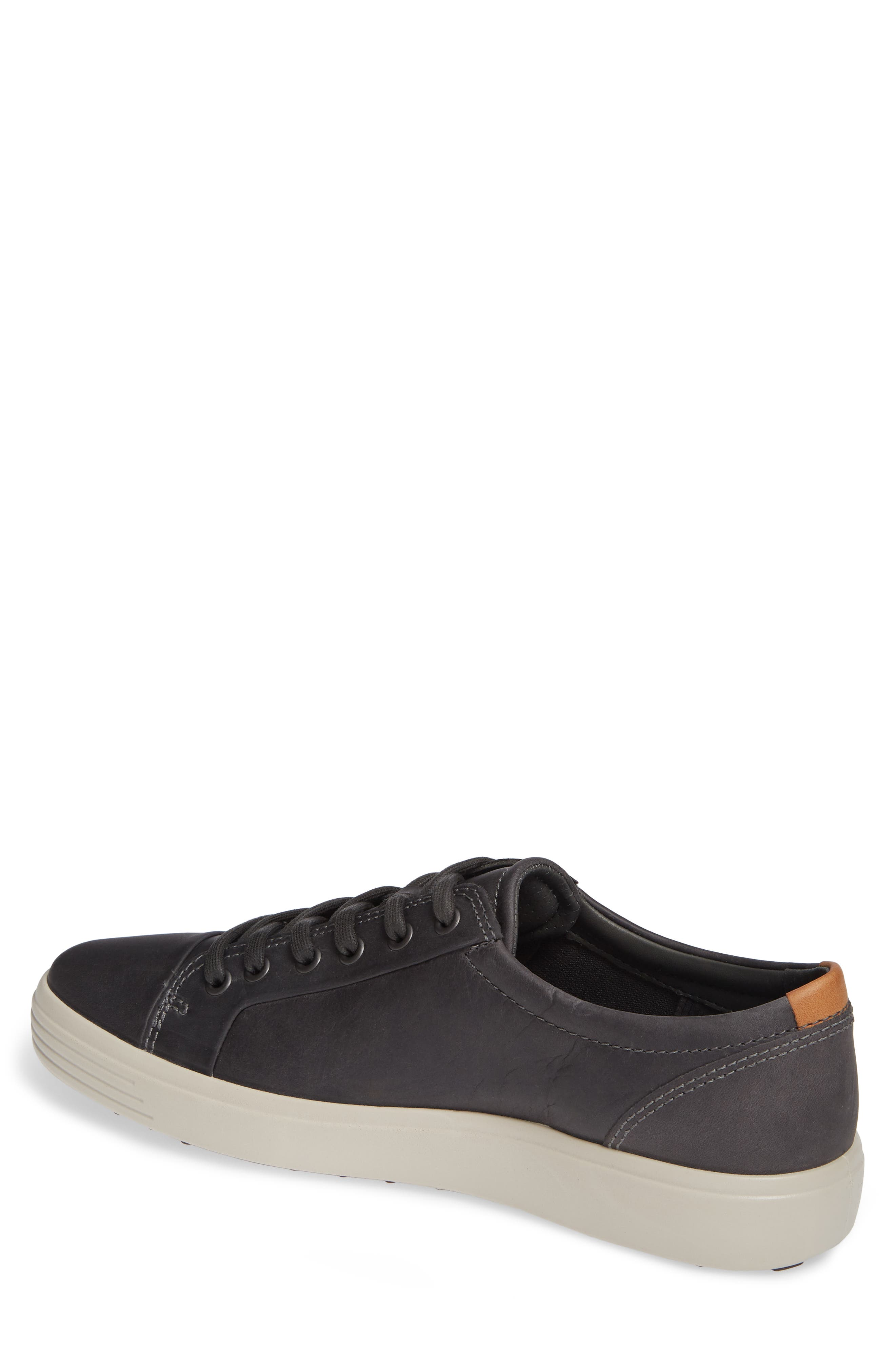 ECCO,                             Soft VII Lace-Up Sneaker,                             Alternate thumbnail 2, color,                             GREY OILED NUBUCK