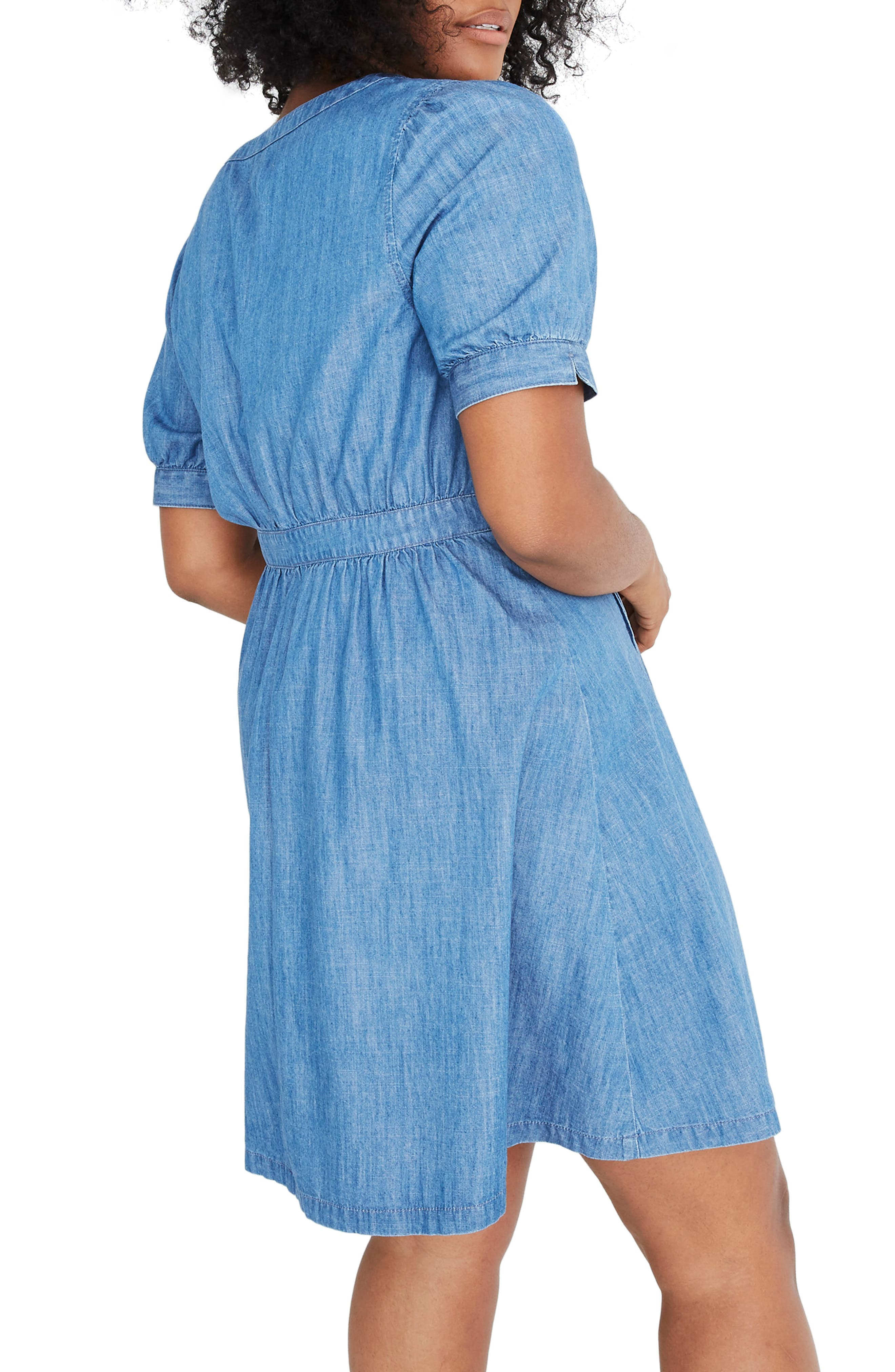 Denim Daylily Dress,                             Alternate thumbnail 7, color,                             ANNETTA WASH