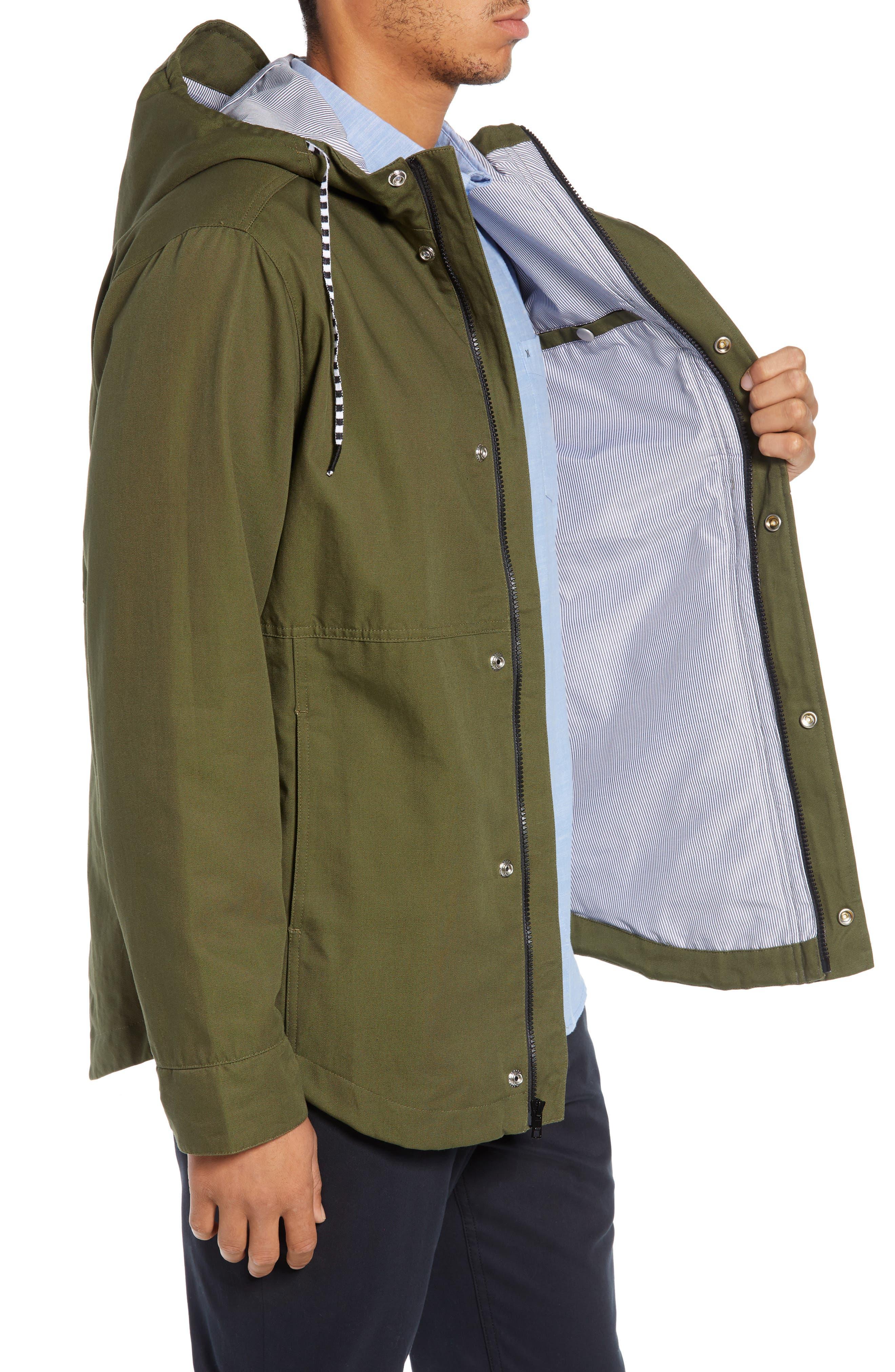Mac A-Frame Jacket,                             Alternate thumbnail 3, color,                             OLIVE CANVAS