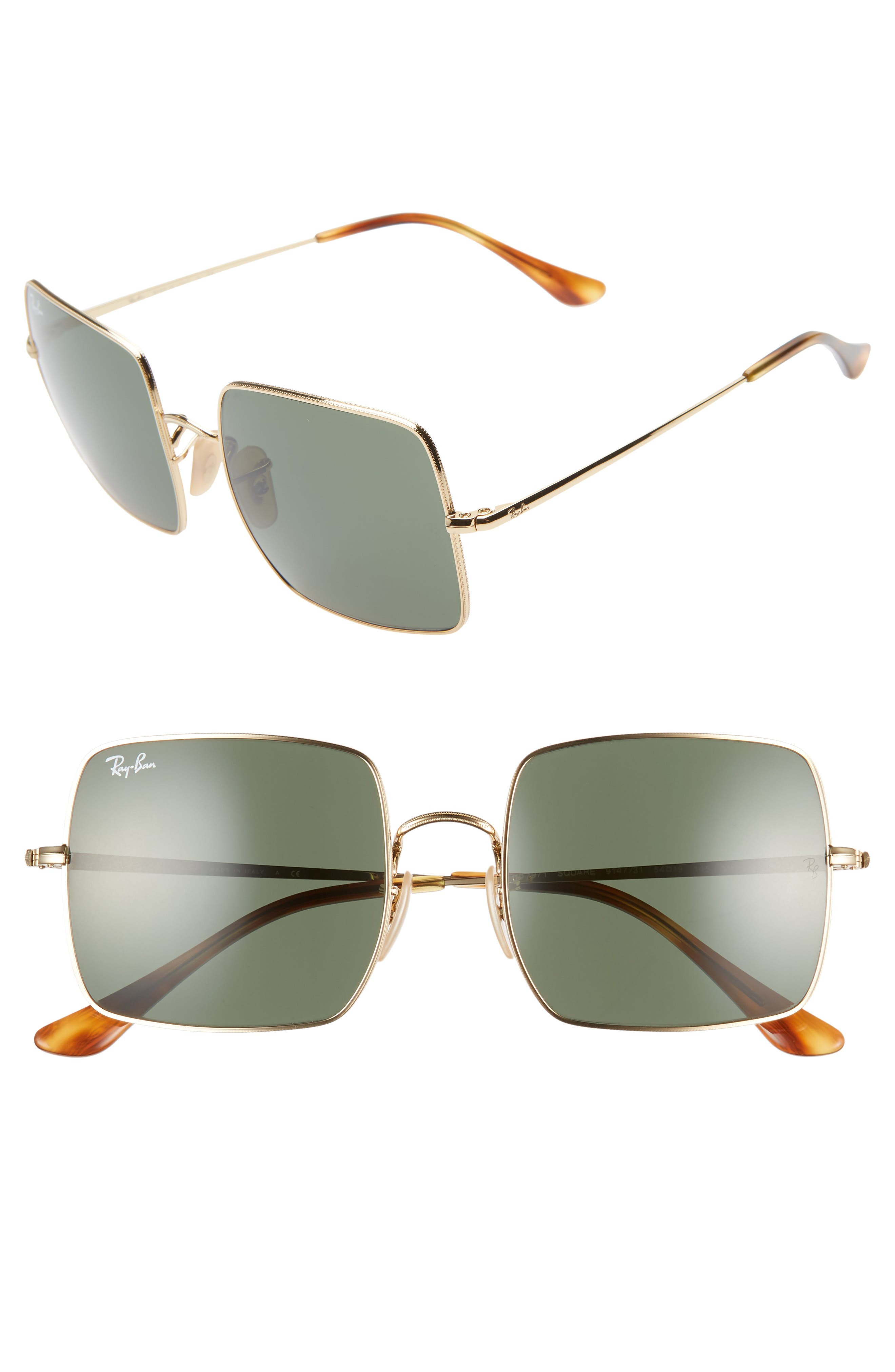 Ray-Ban 5m Square Sunglasses - Gold/ Grey Solid