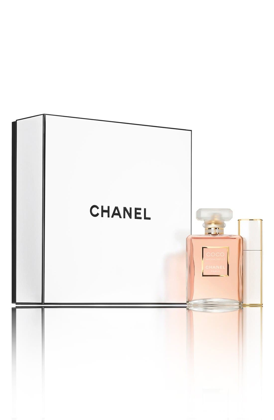 CHANEL,                             COCO MADEMOISELLE<br />Twist and Spray Travel Set,                             Main thumbnail 1, color,                             000