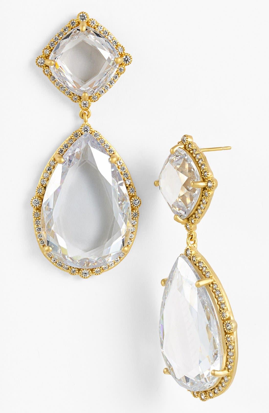 'Metropolitan' Stone Drop Earrings,                             Main thumbnail 4, color,