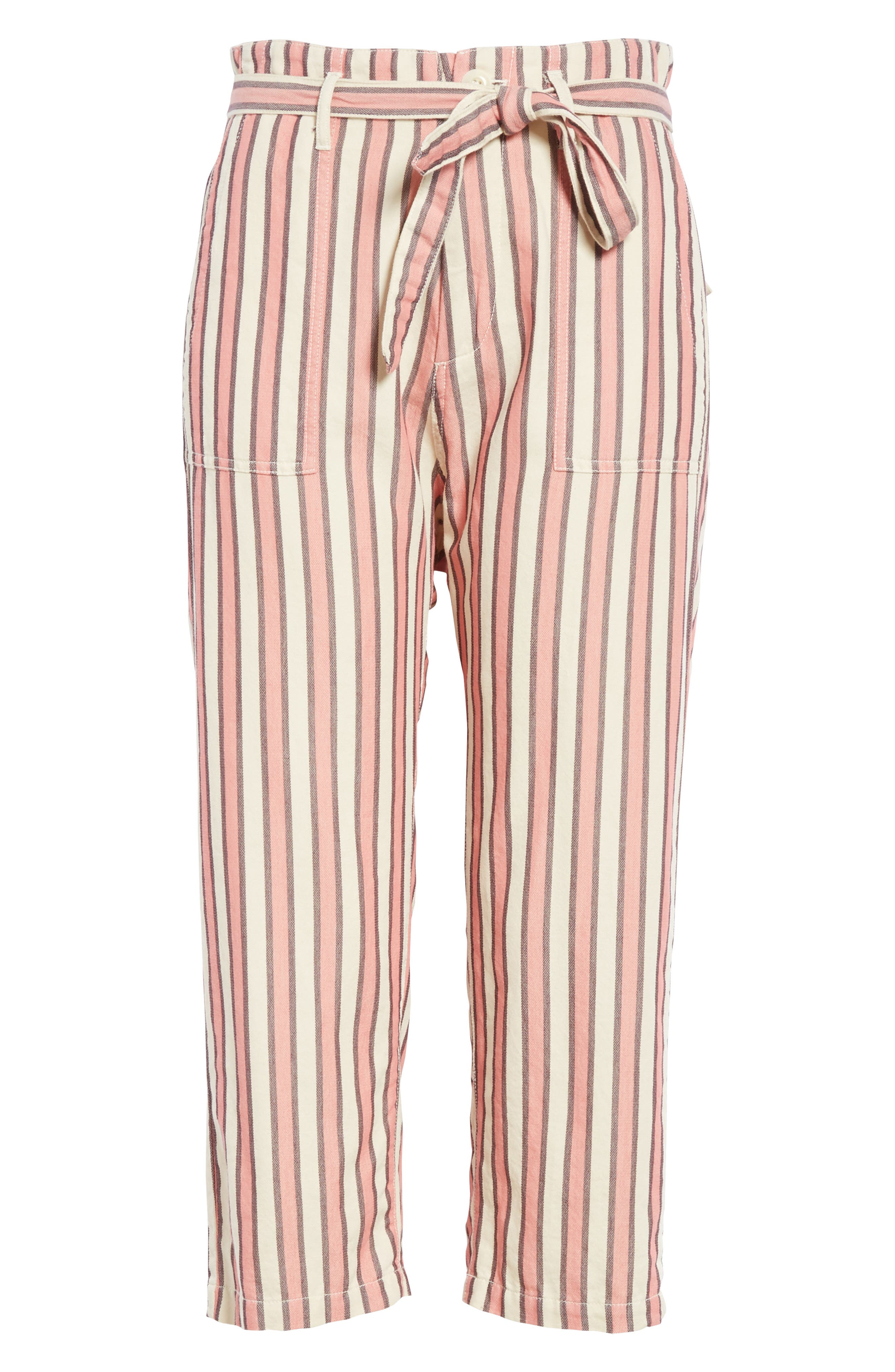 The Convertible Trousers,                             Alternate thumbnail 6, color,                             PINK TAFFY STRIPE