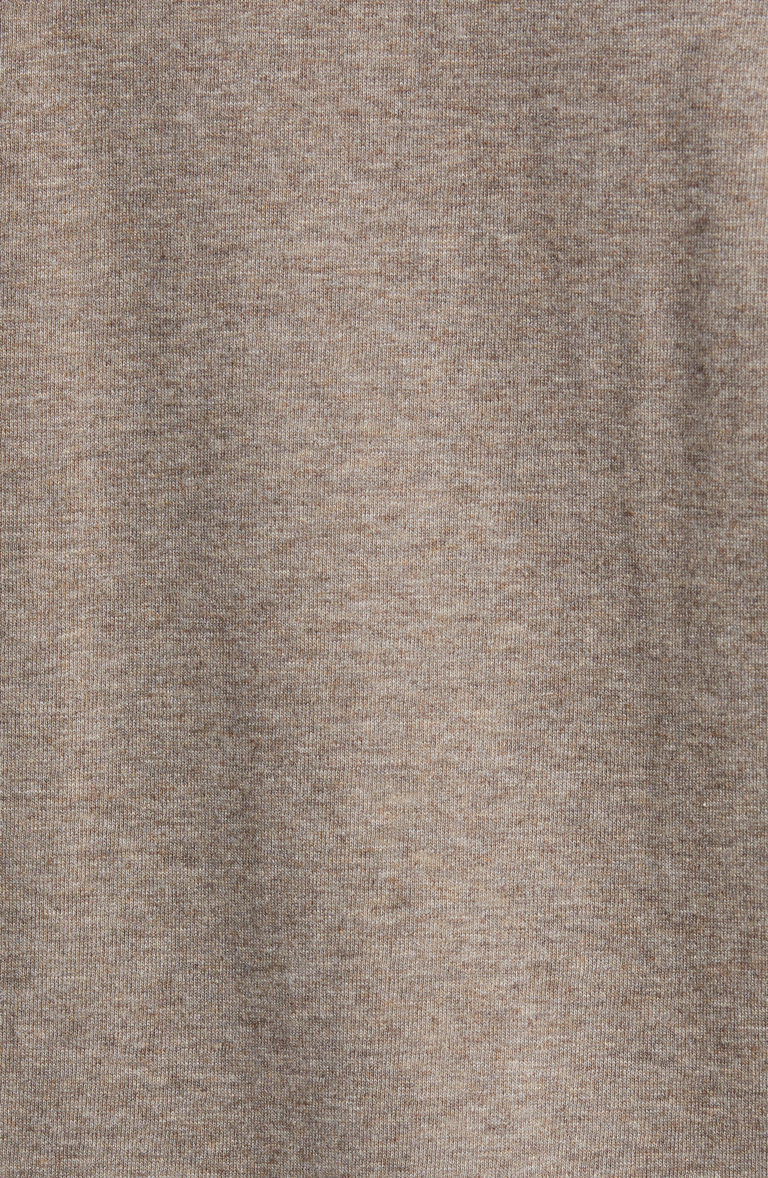 Dual Knit Regular Fit Quarter Zip Pullover,                             Alternate thumbnail 5, color,                             CHESTNUT