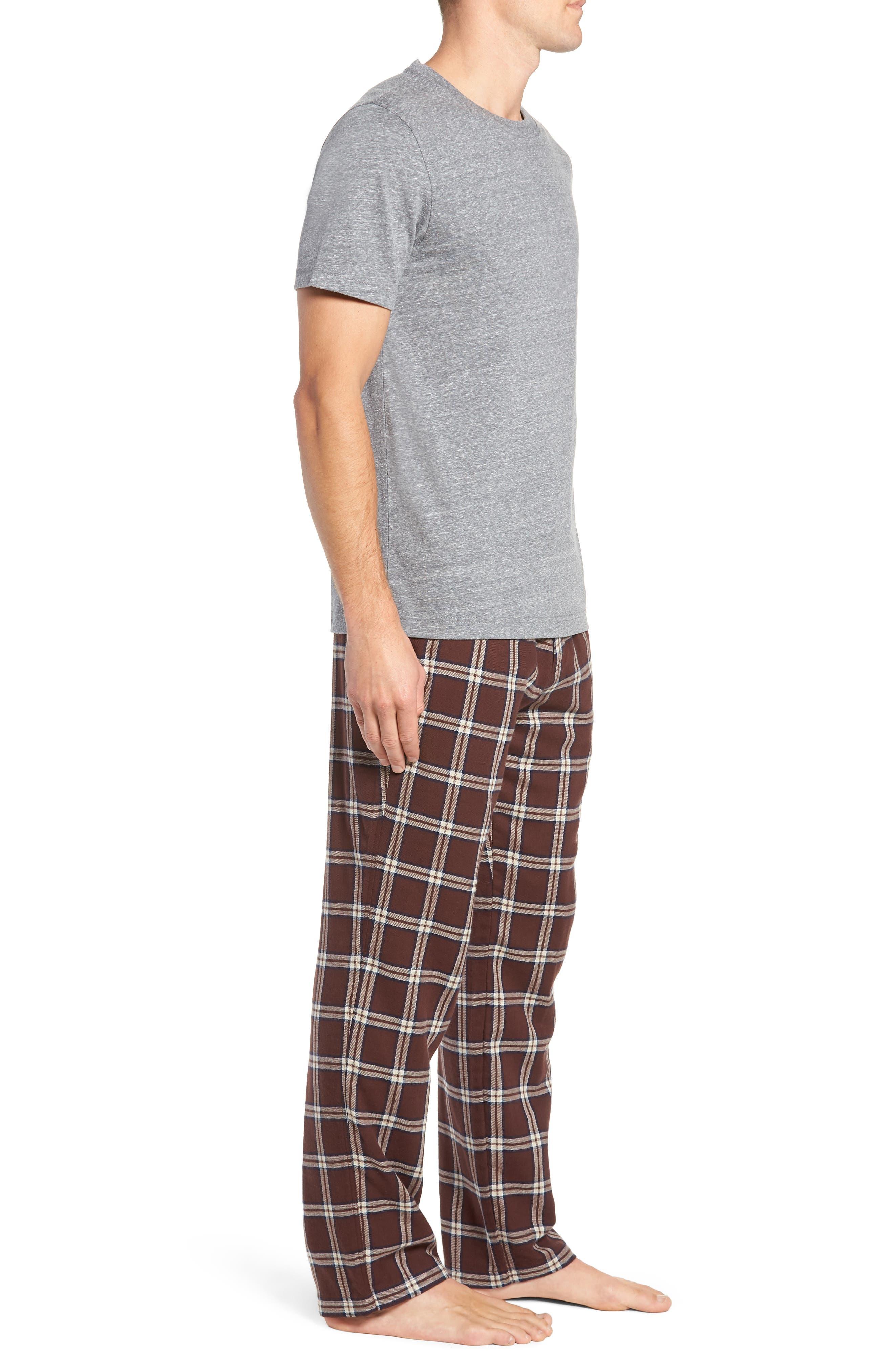 Grant Pajama Set,                             Alternate thumbnail 3, color,                             PORT/ GREY HEATHER