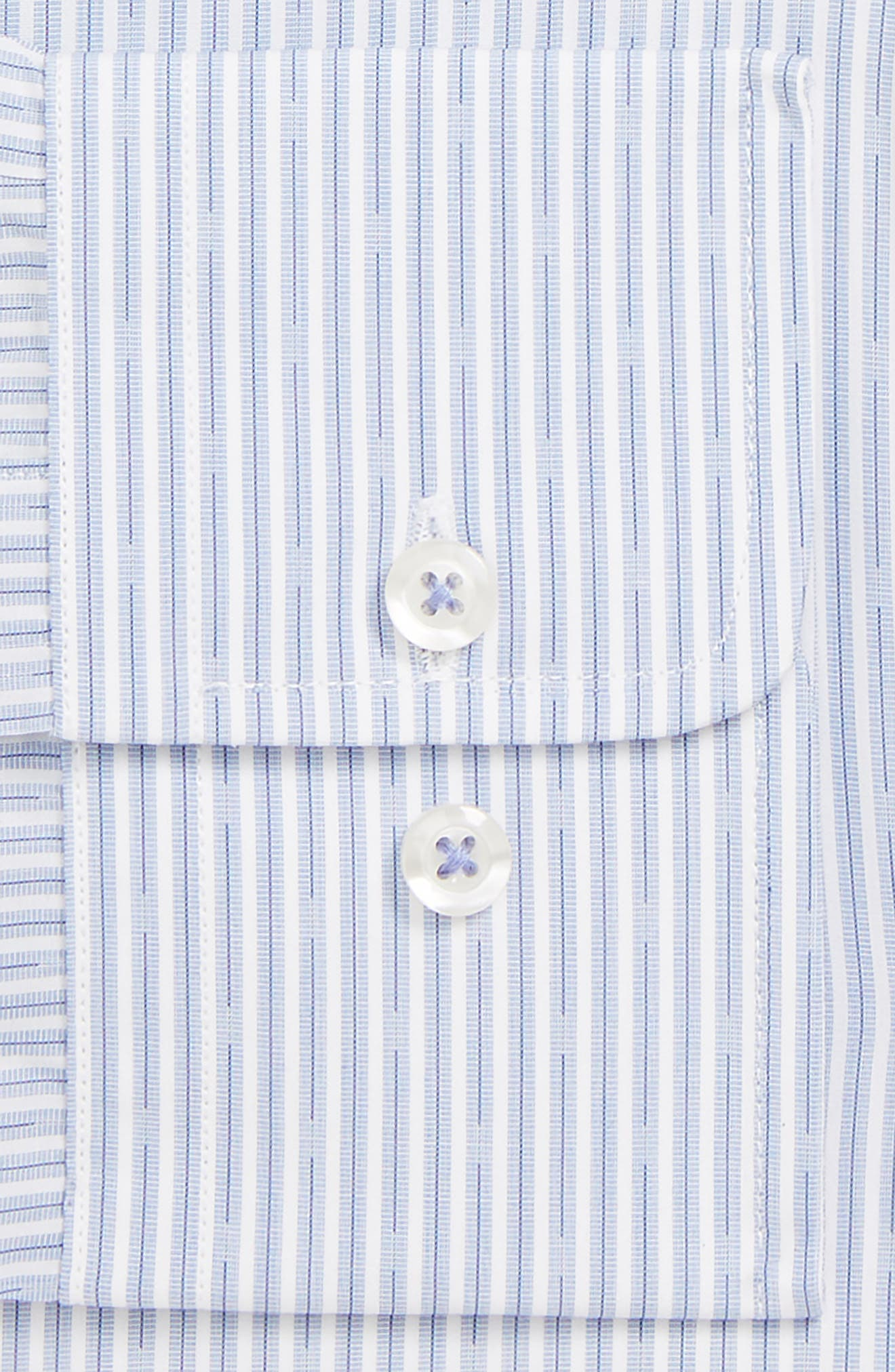 Regular Fit Stripe Dress Shirt,                             Alternate thumbnail 2, color,                             BLUE