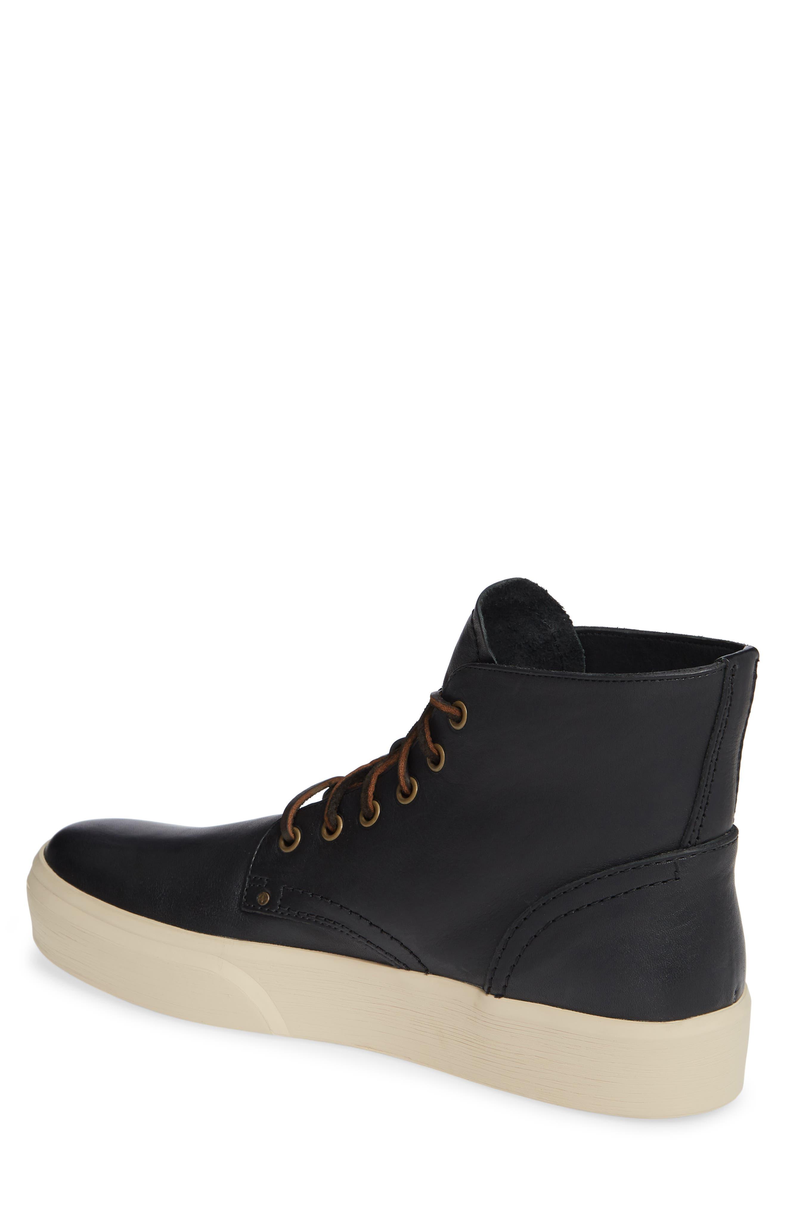 Beacon High Top Platform Sneaker,                             Alternate thumbnail 2, color,                             BLACK
