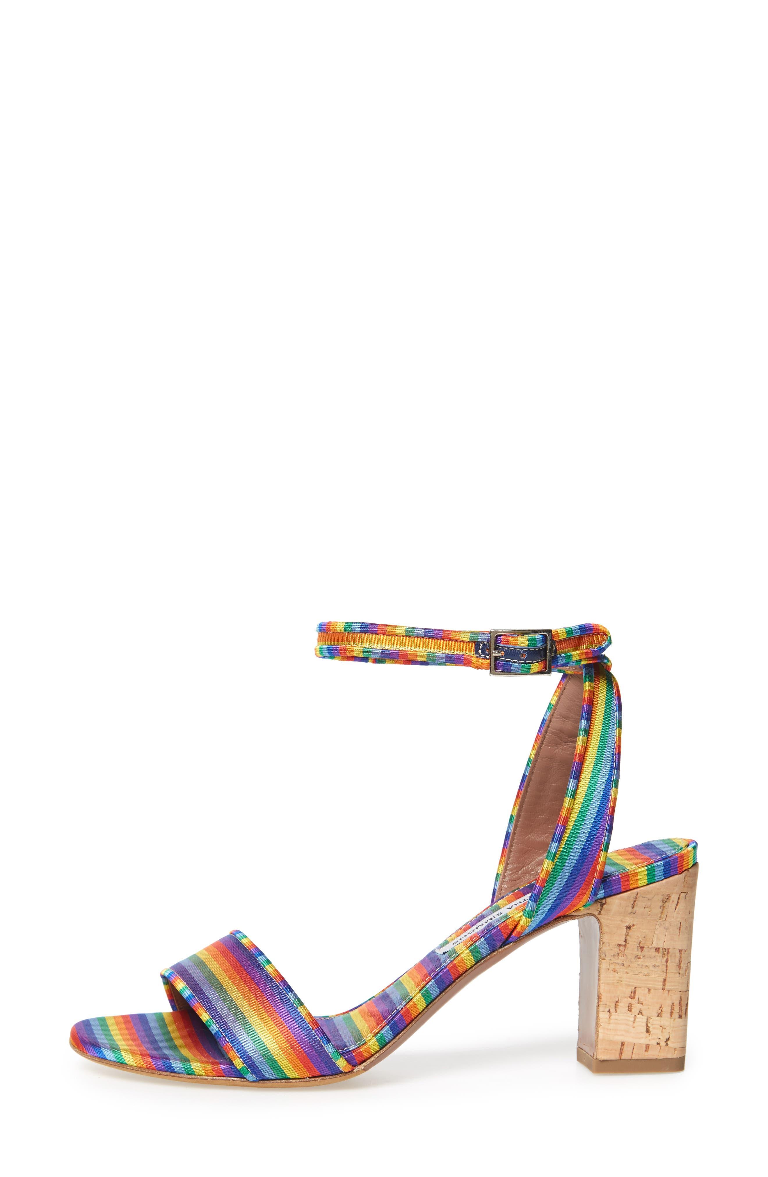 Leticia Cork Heel Sandal,                             Alternate thumbnail 3, color,                             600