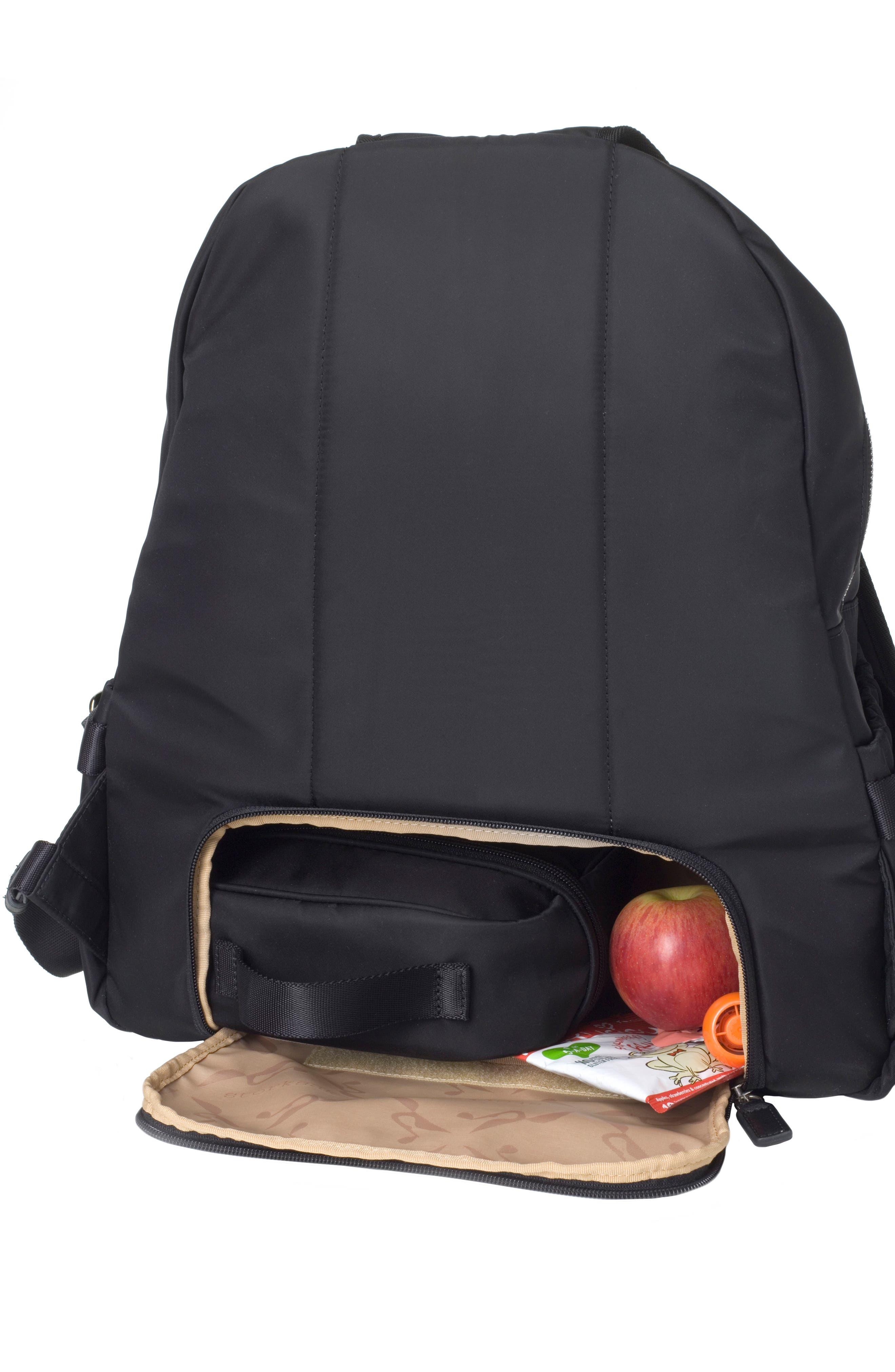 Hero Water Resistant Nylon Backpack Diaper Bag,                             Alternate thumbnail 11, color,                             BLACK