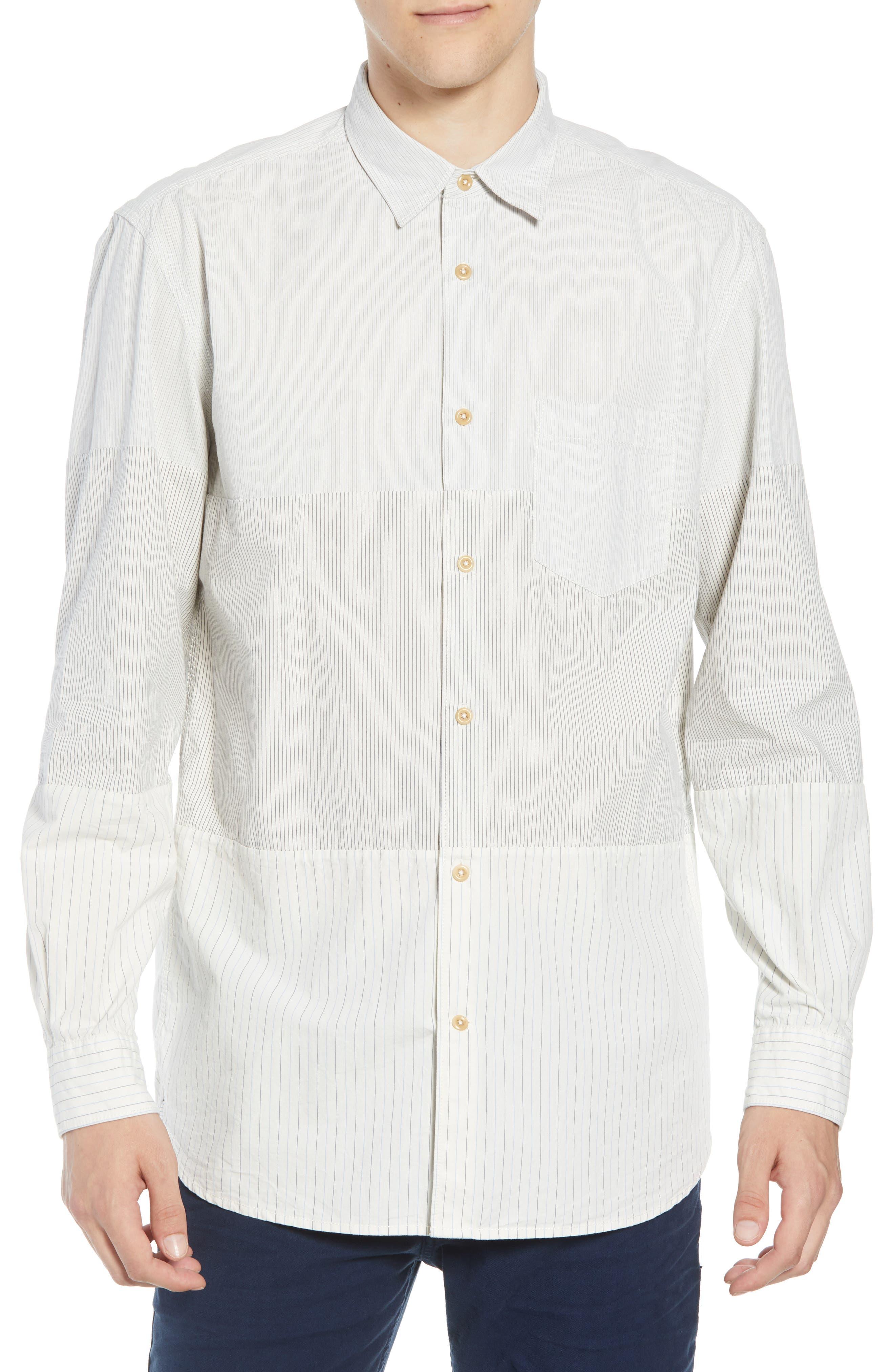 Core Peach Regular Fit Patchwork Sport Shirt,                         Main,                         color, 400