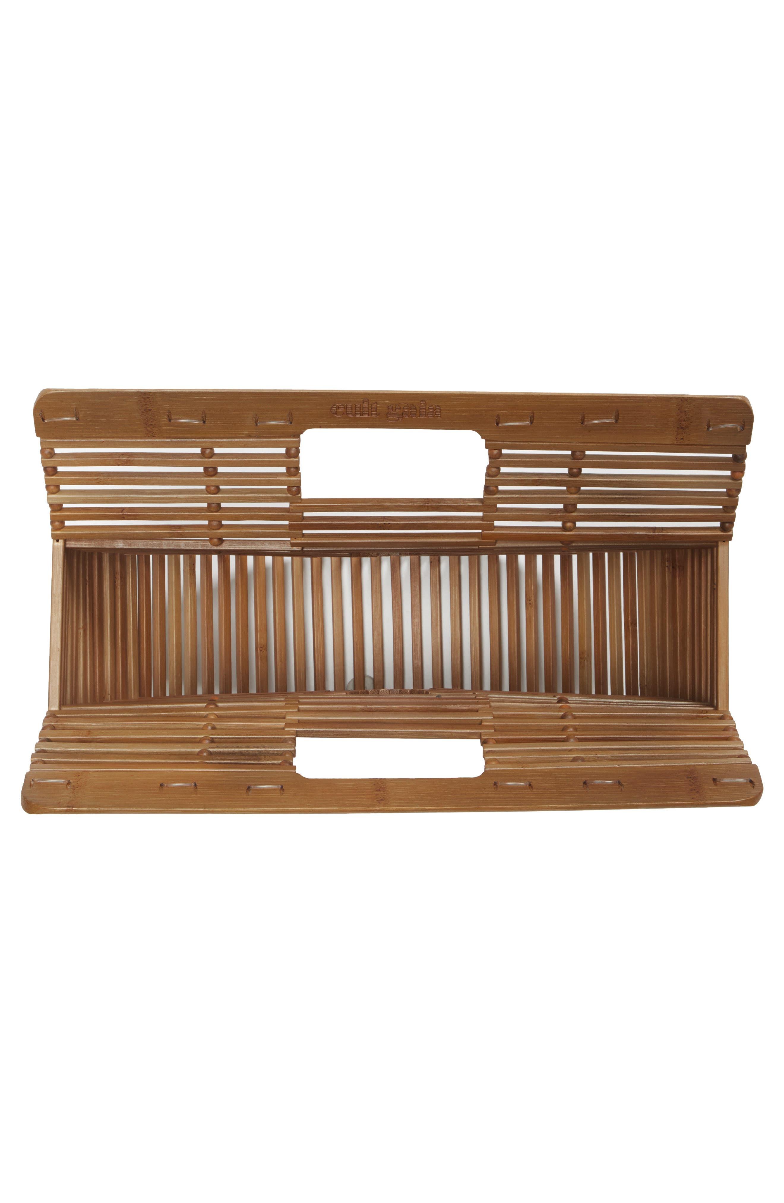 Small Ark Bamboo Handbag,                             Alternate thumbnail 4, color,                             CHESTNUT