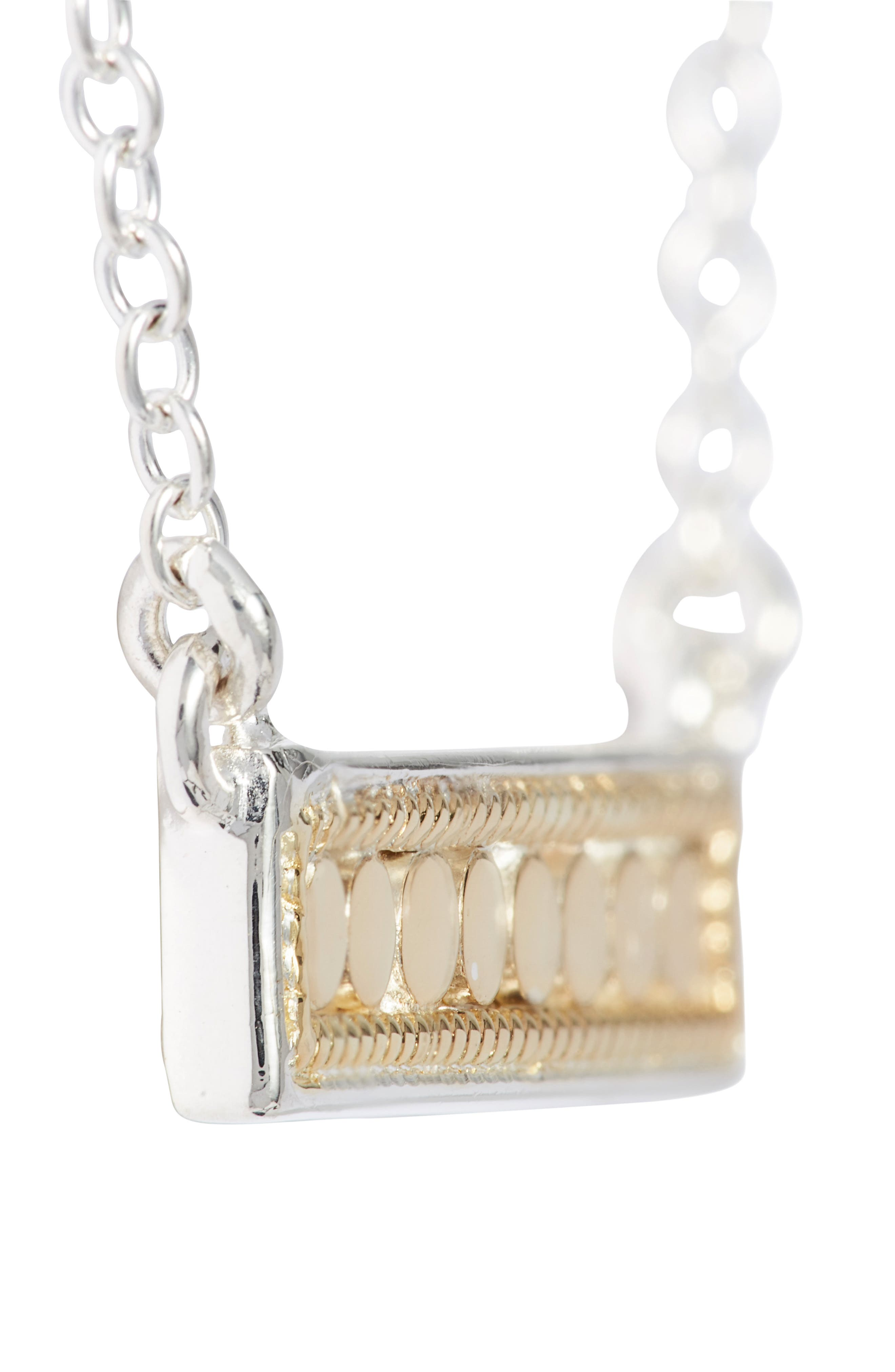 'Gili' Bar Pendant Necklace,                             Alternate thumbnail 4, color,                             GOLD/ SILVER