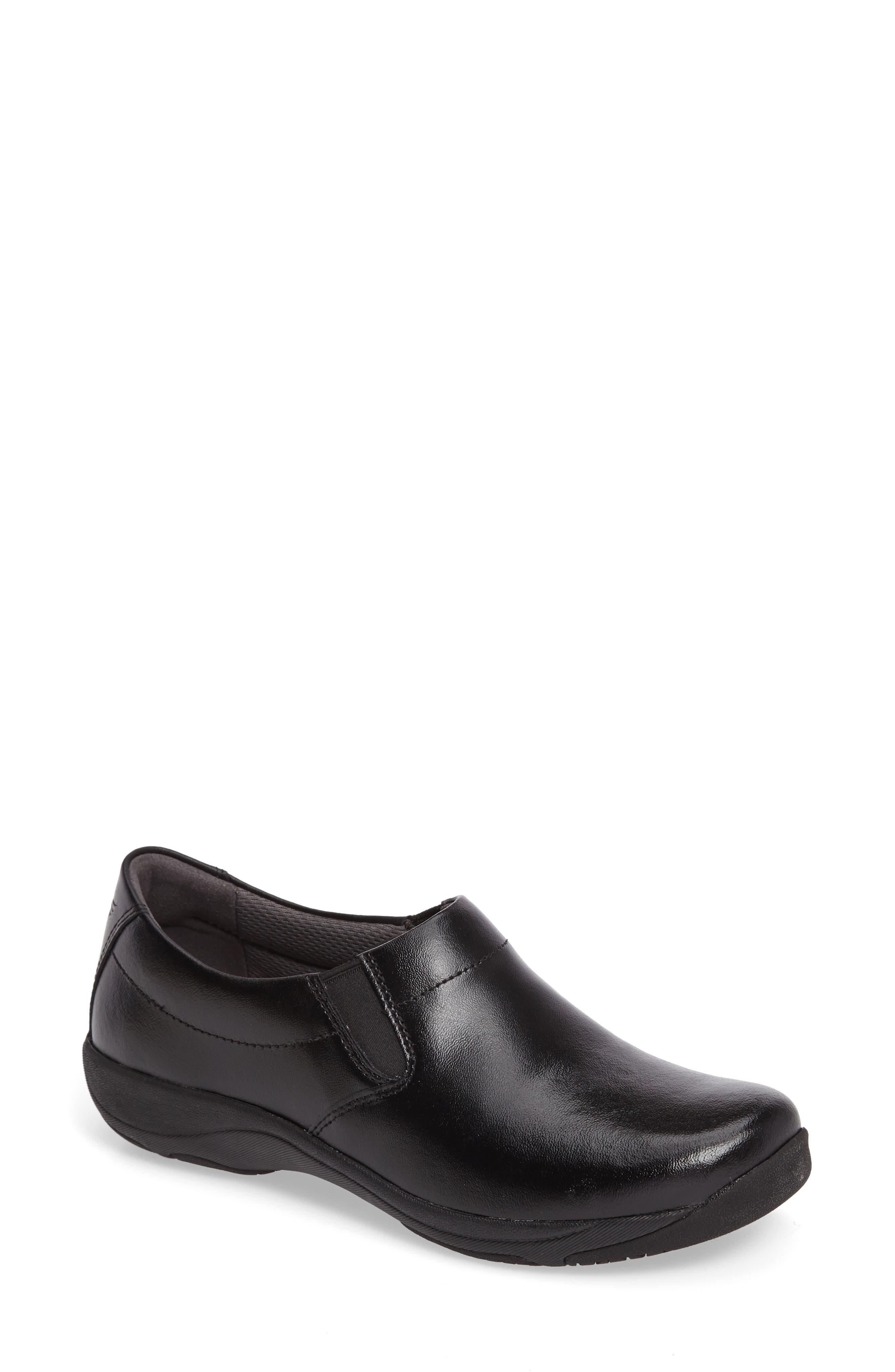 DANSKO Ellie Slip-On Sneaker, Main, color, BLACK LEATHER