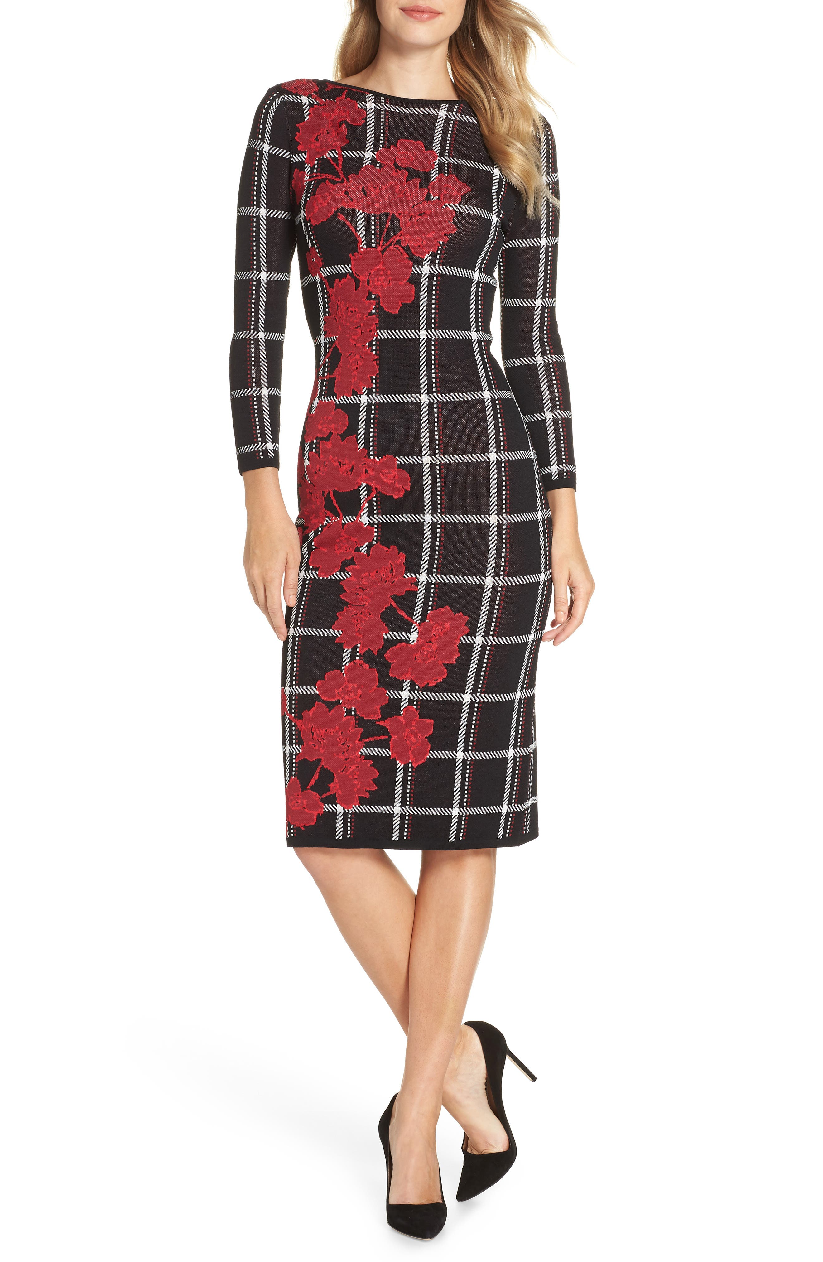 Vince Camuto Jacquard Sweater Dress